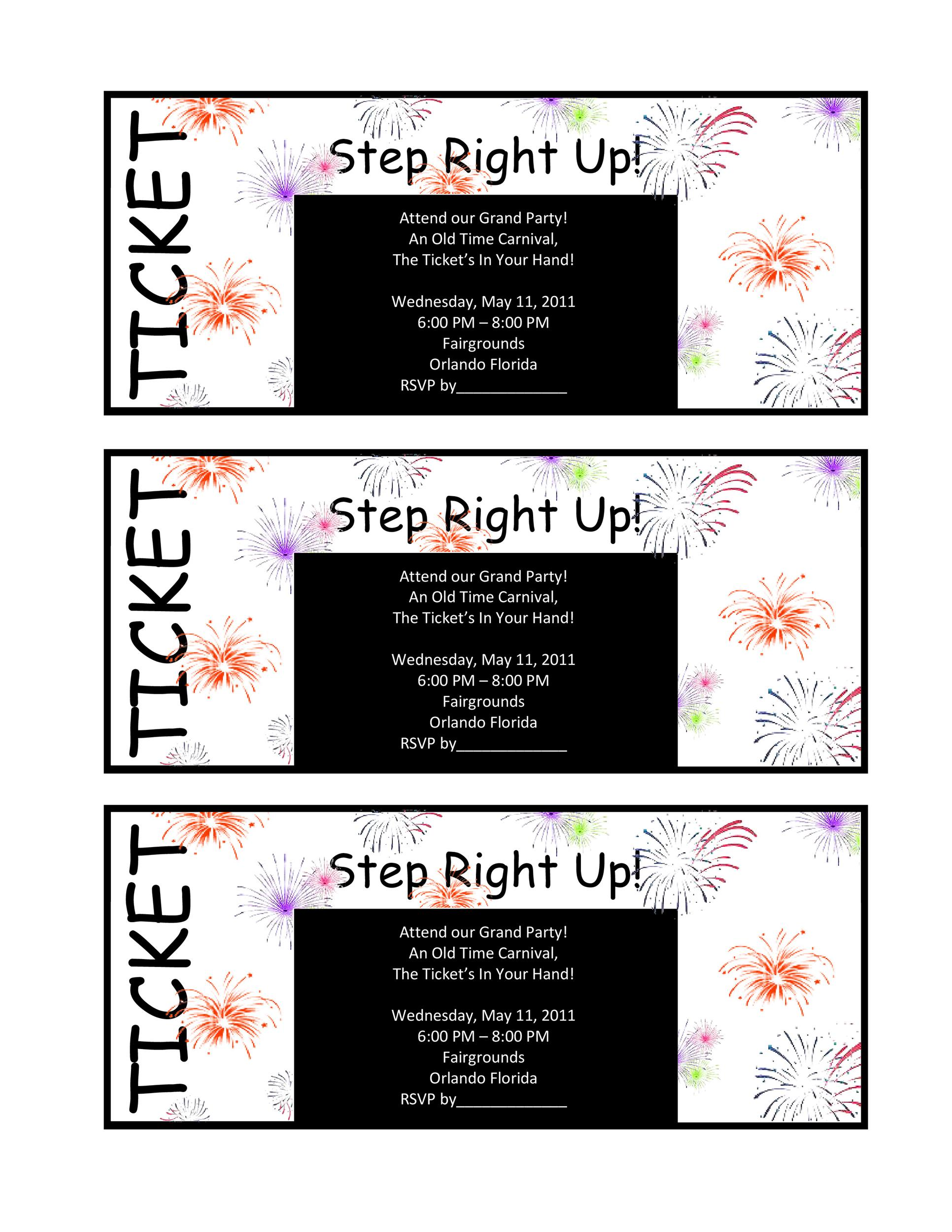 Free Raffle Ticket Templates 26