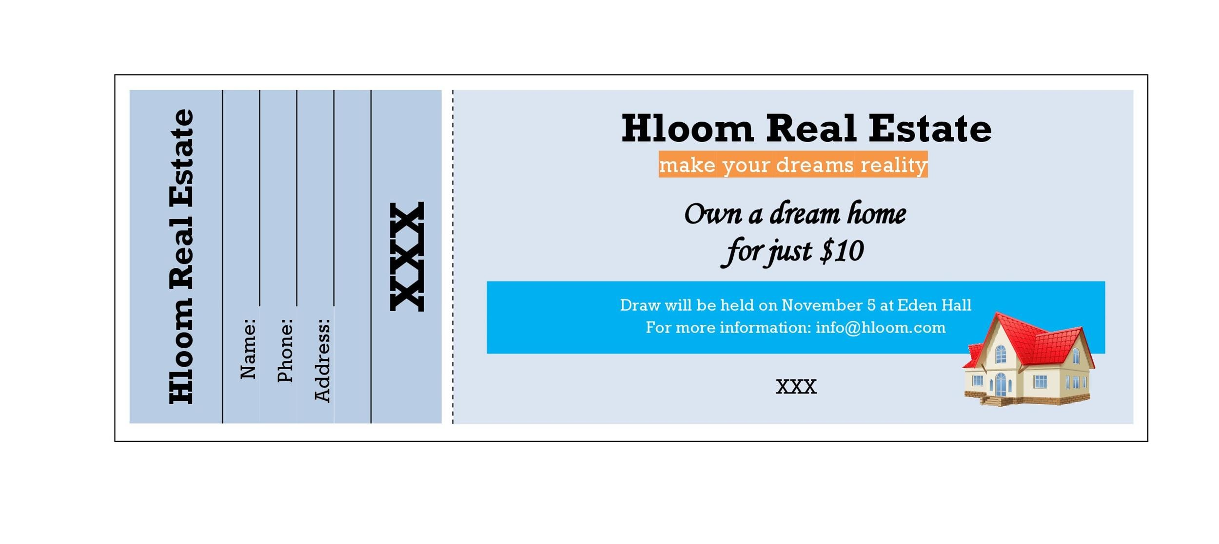 Free Raffle Ticket Templates 27