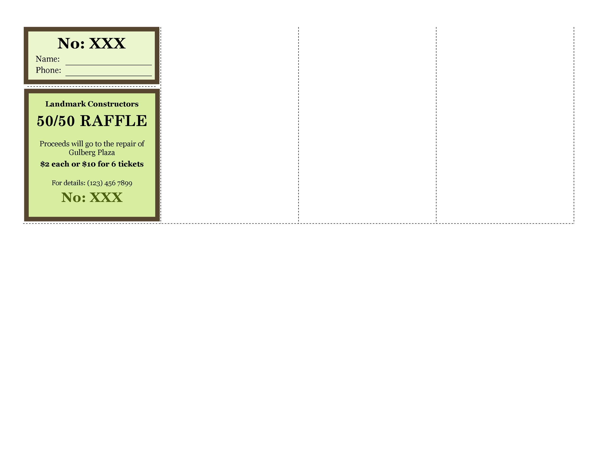 Free Raffle Ticket Templates 29