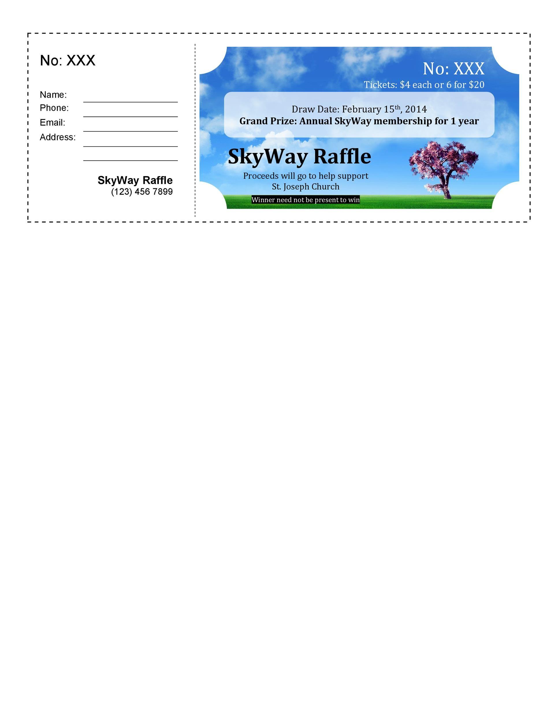 Free Raffle Ticket Templates 33