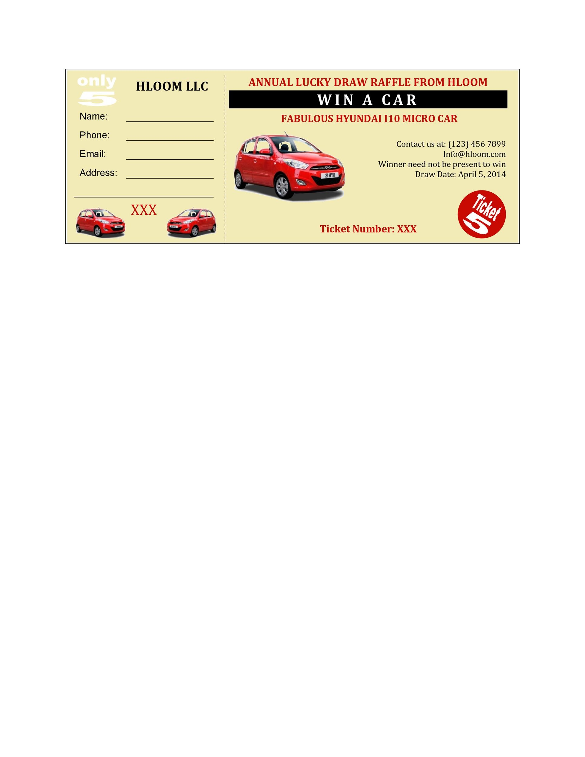 Free Raffle Ticket Templates 34