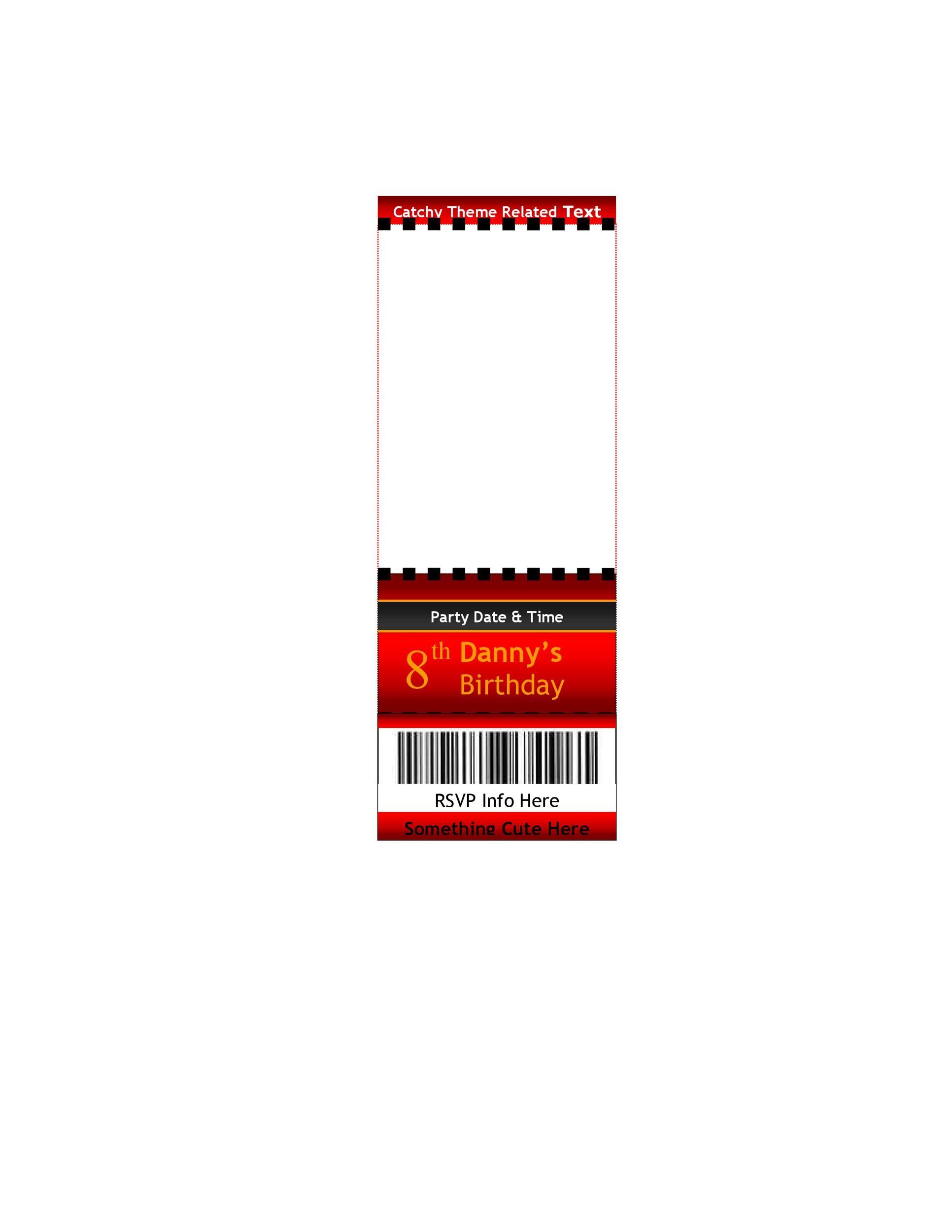 Free Raffle Ticket Templates 35