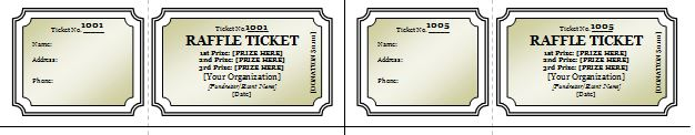 Free Raffle Ticket Templates 40