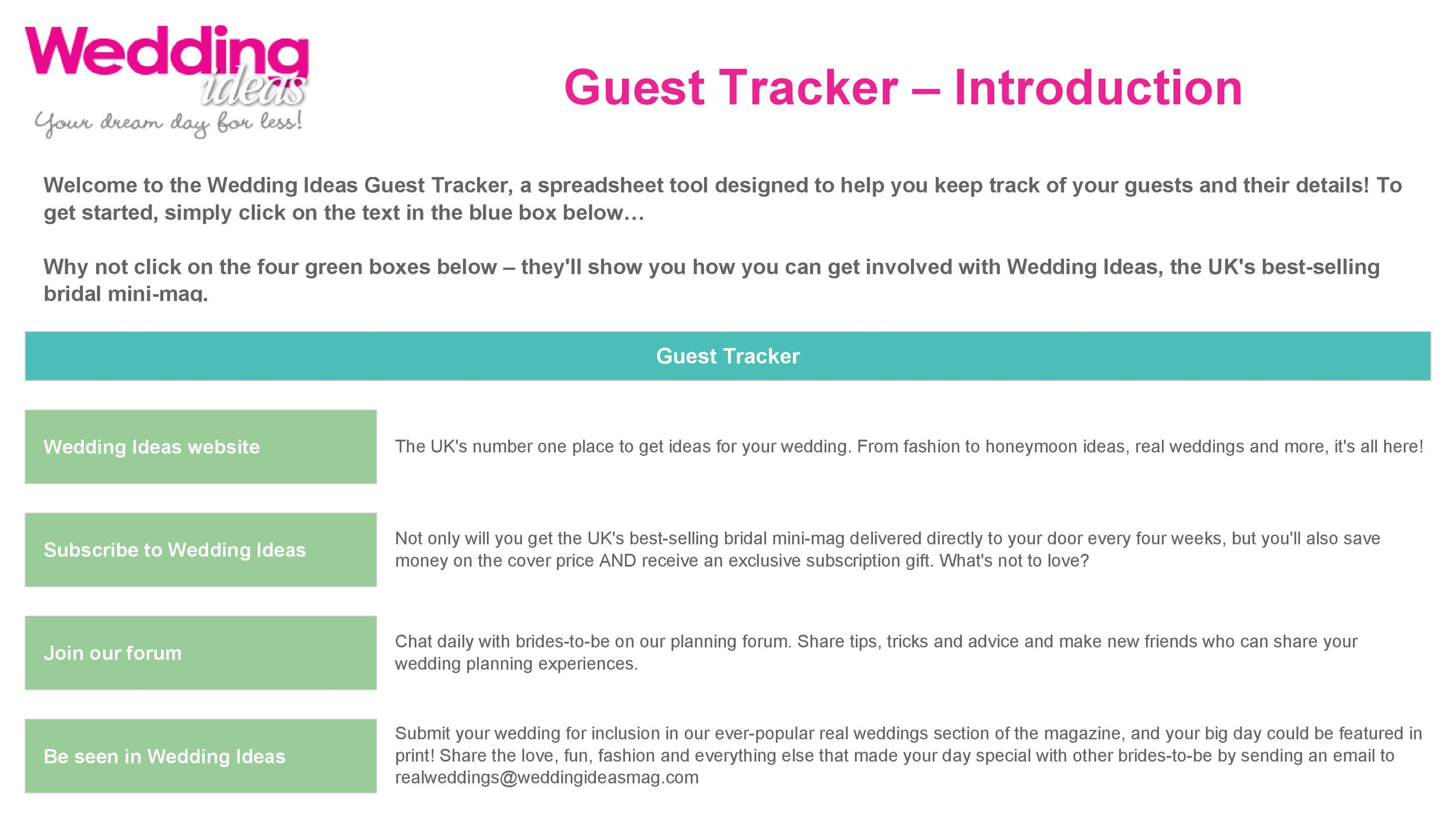 Free Wedding Guest List Template 21