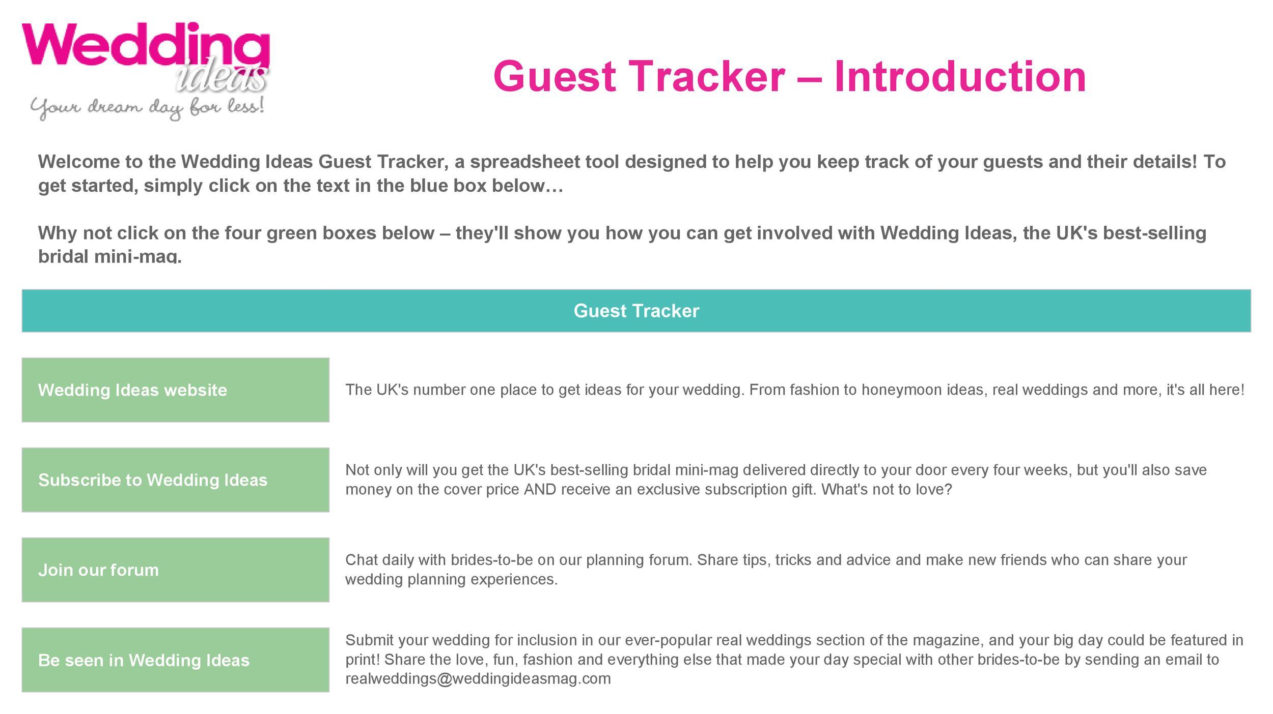 Free Wedding Guest List Template 21
