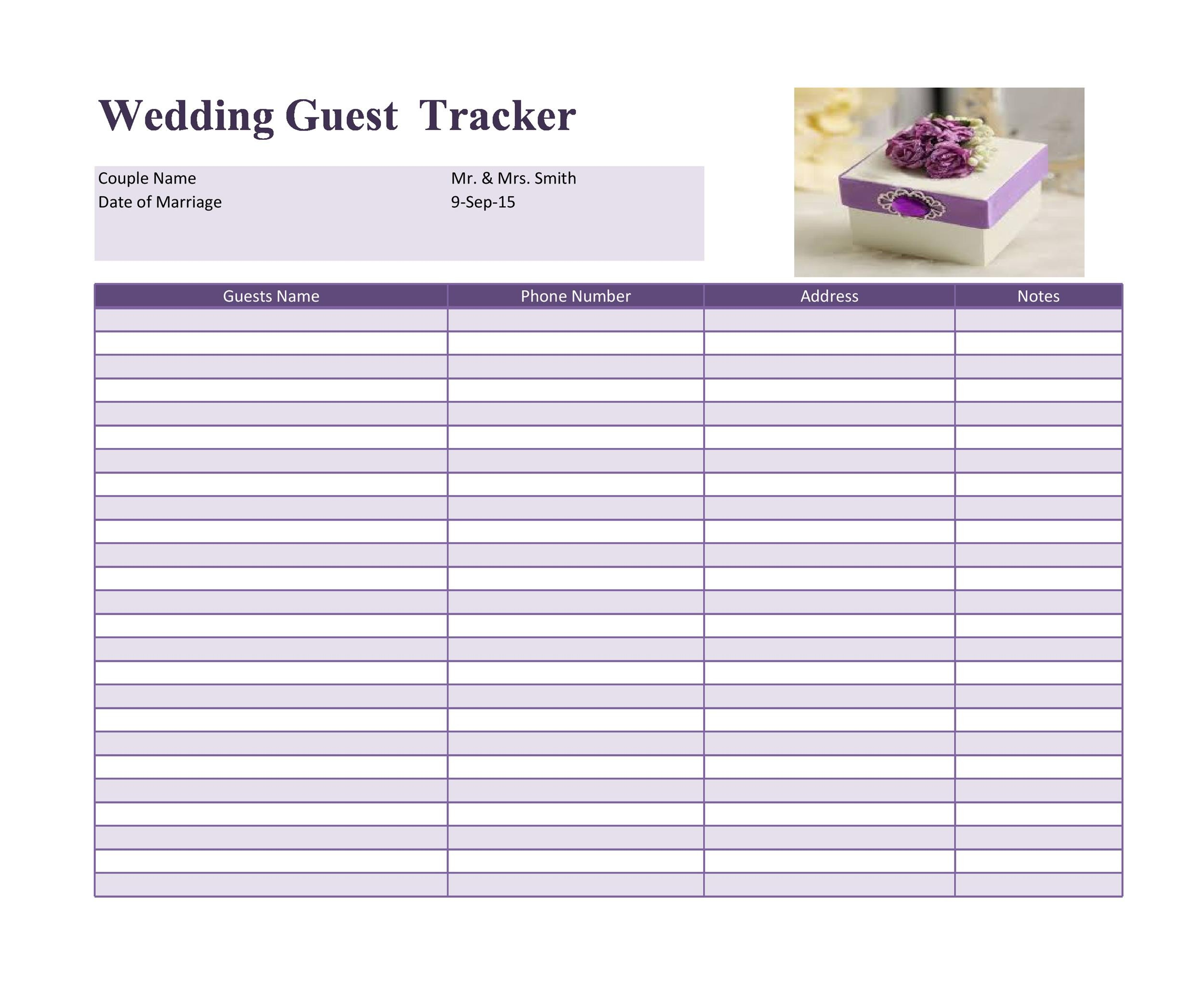wedding checklist free template for excel