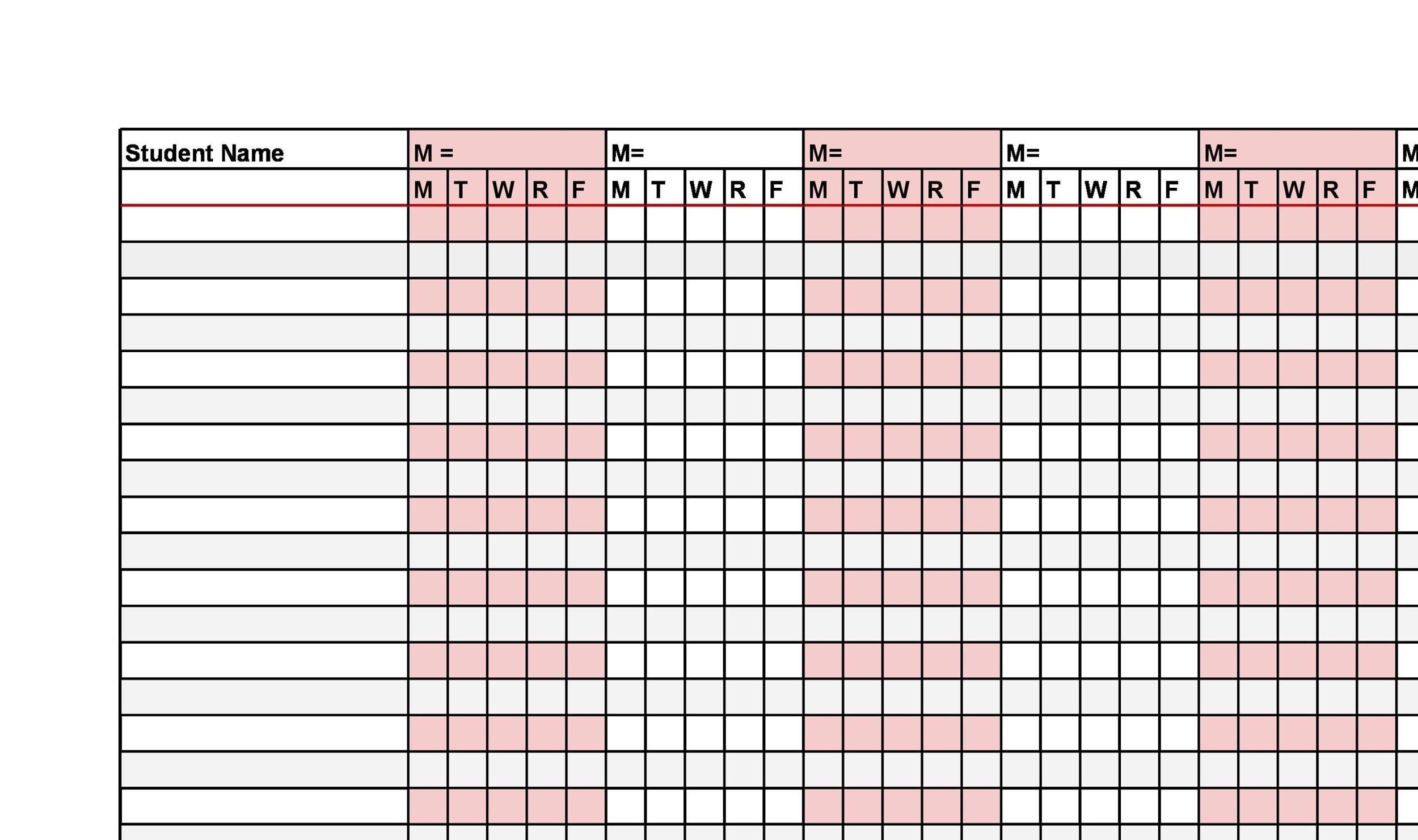 Free Attendance Sheet 33