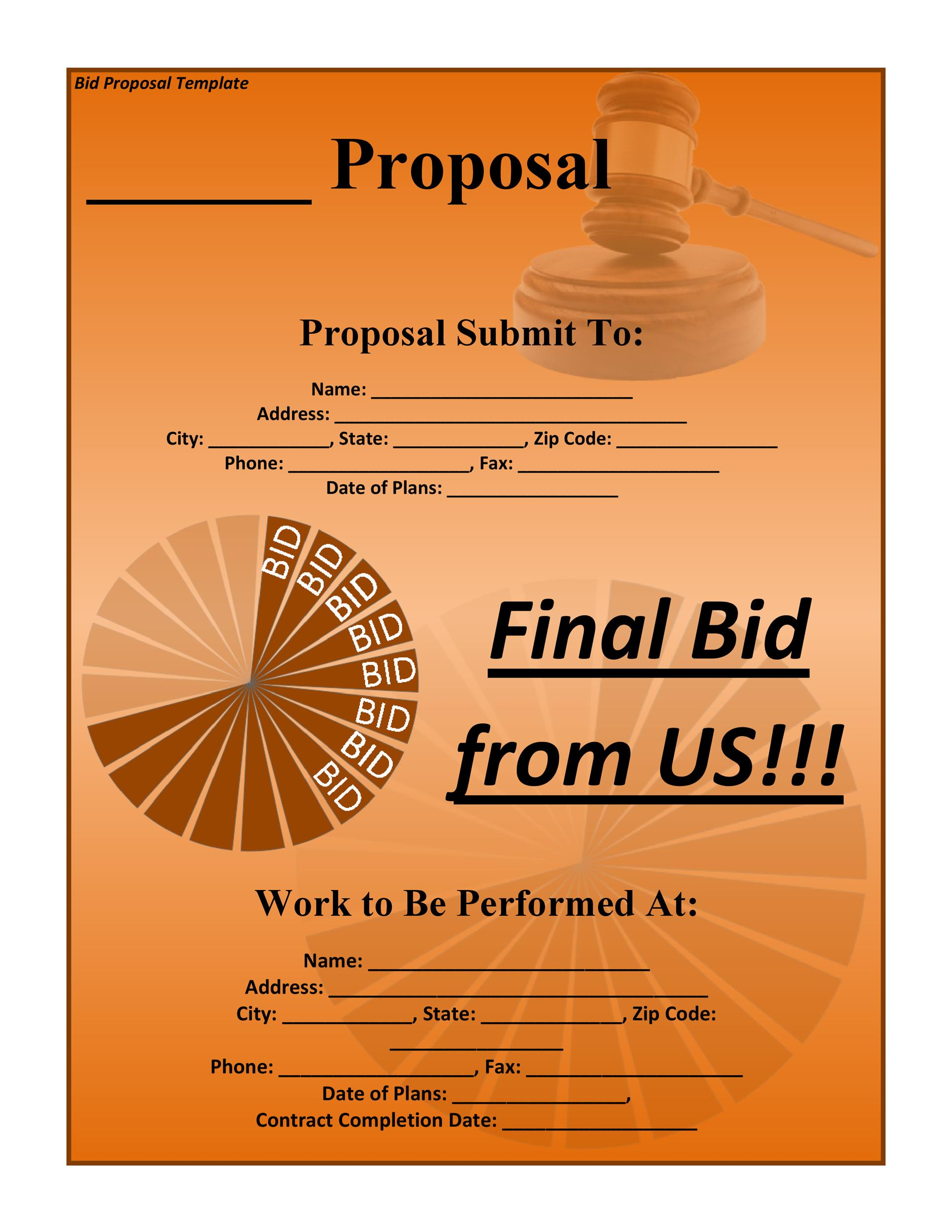 sales proposal template free download