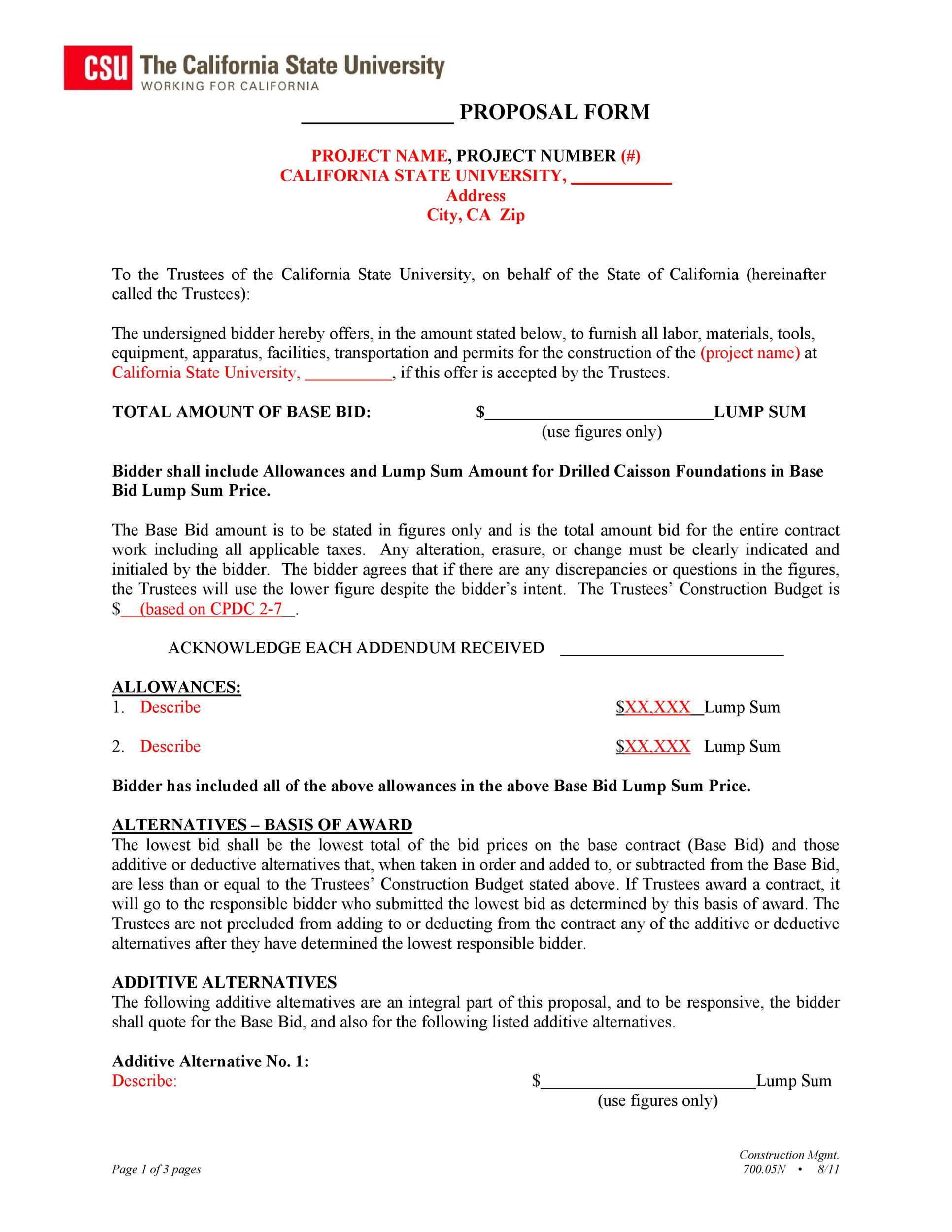 Free Business Proposal Template 02