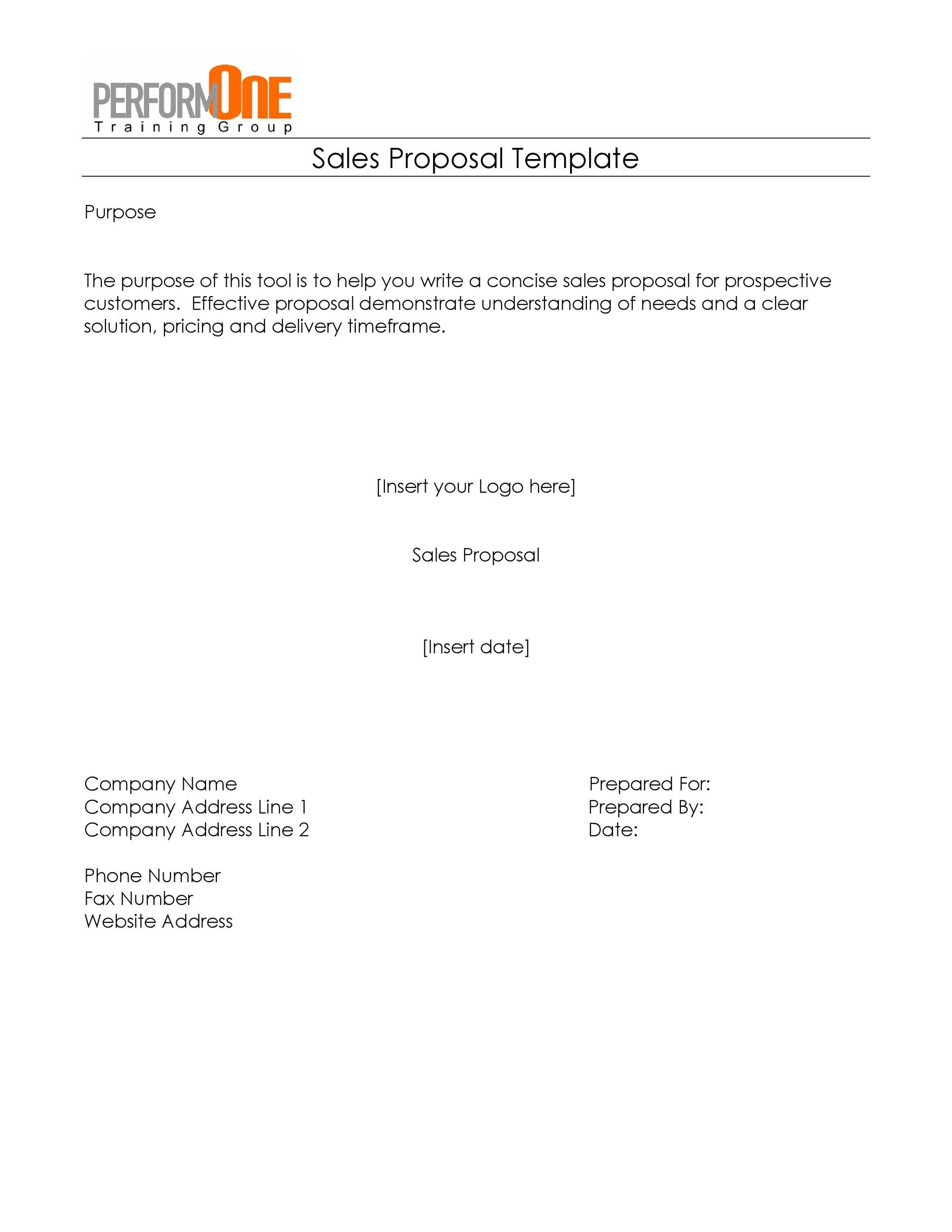 30 Business Proposal Templates Proposal Letter Samples – Business Propsal Template