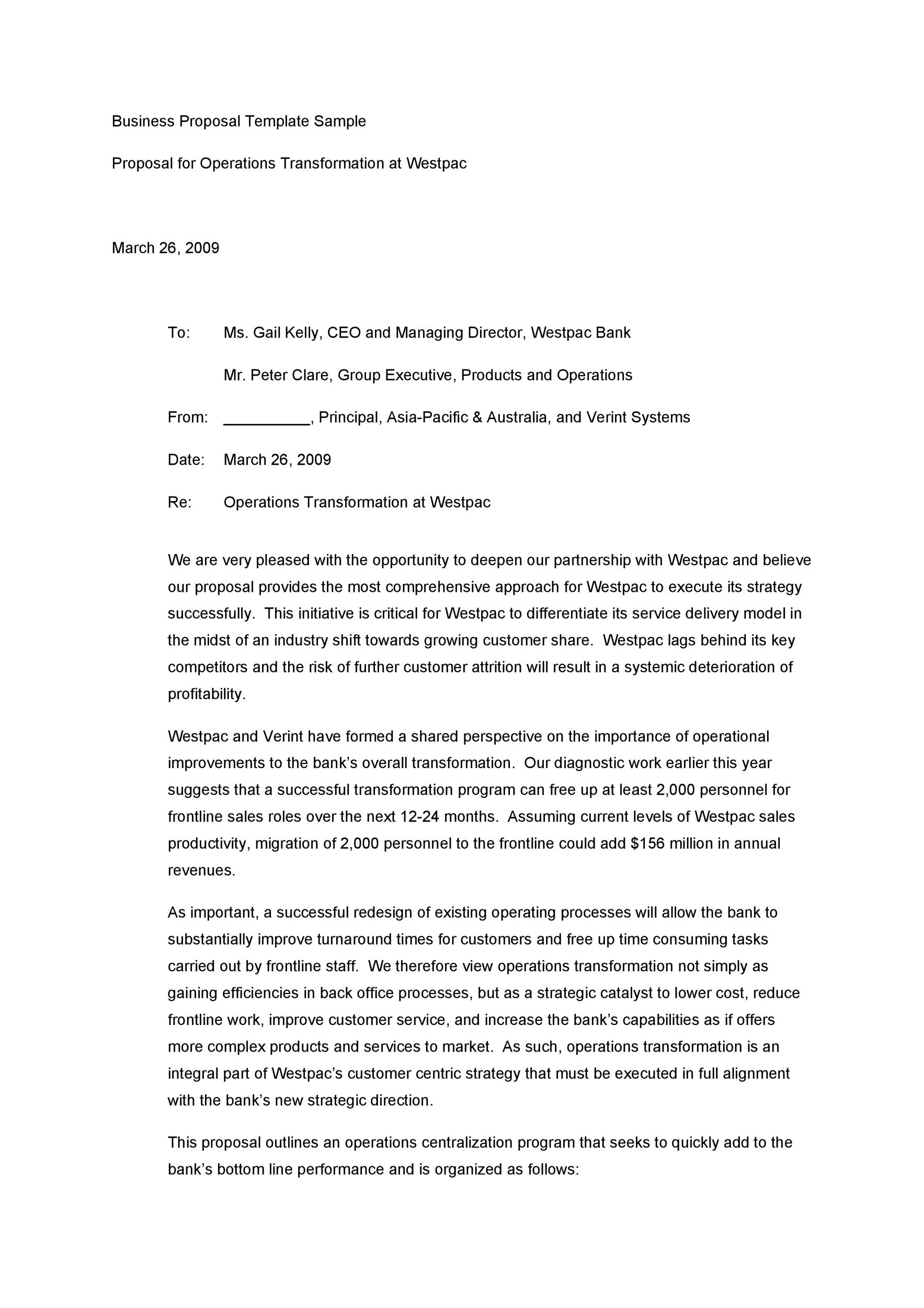 Business Proposal Business Proposal Letter Pdf Sample Business