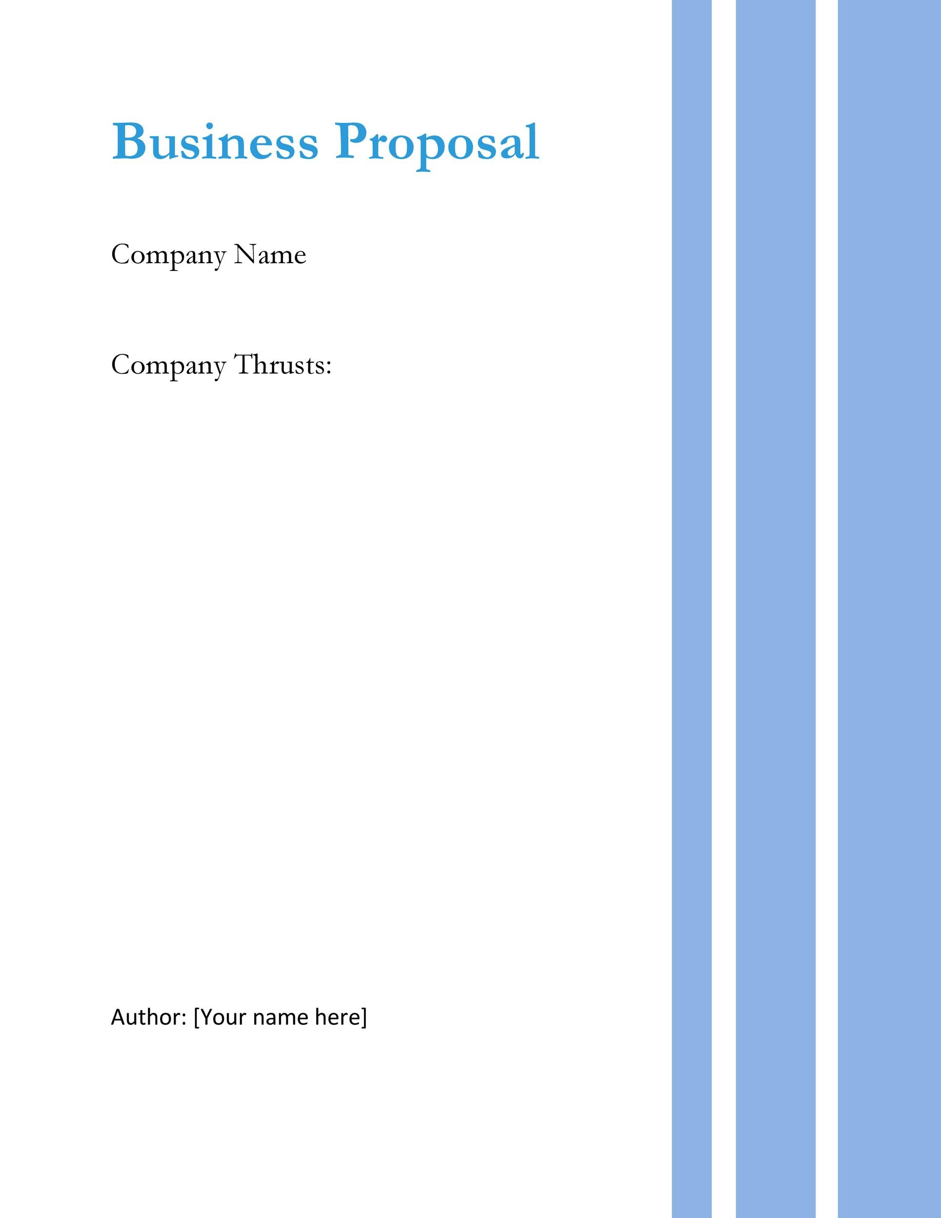 Free Business proposal Template 16