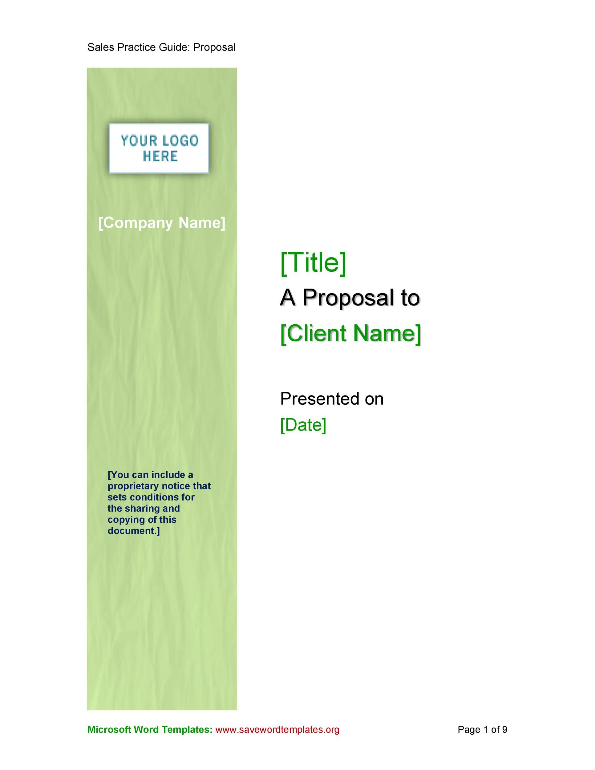 Free Business proposal Template 20