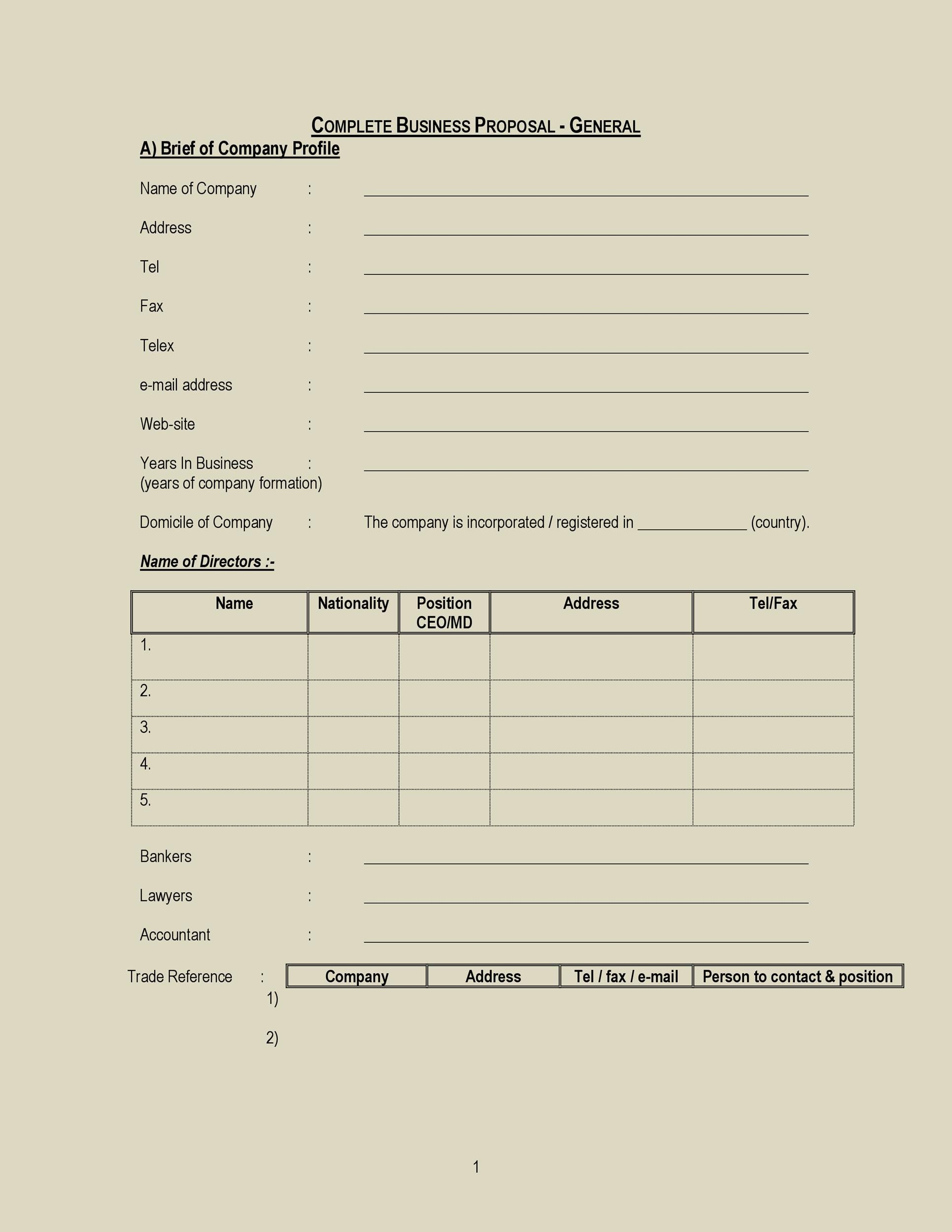 Free Business Proposal Template 21