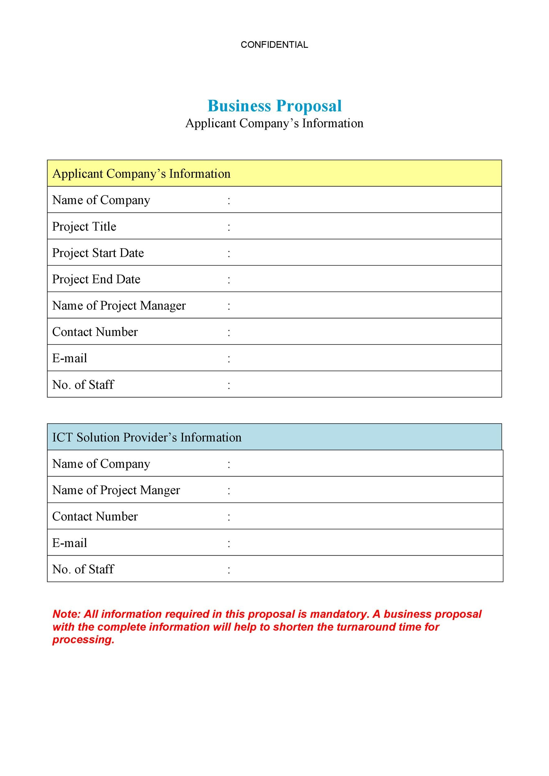free business proposal template 22 - Business Proposal Letter