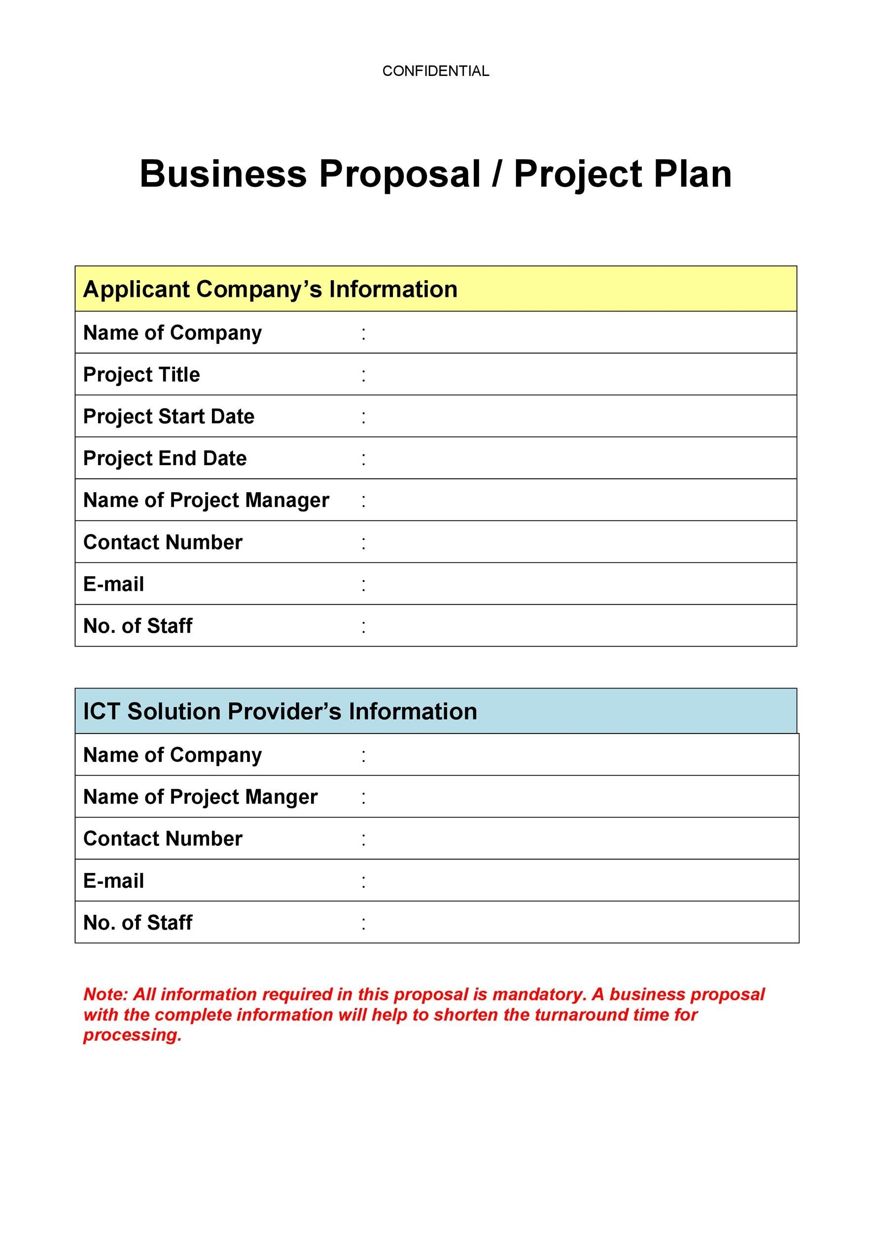 Free Business Proposal Template 23
