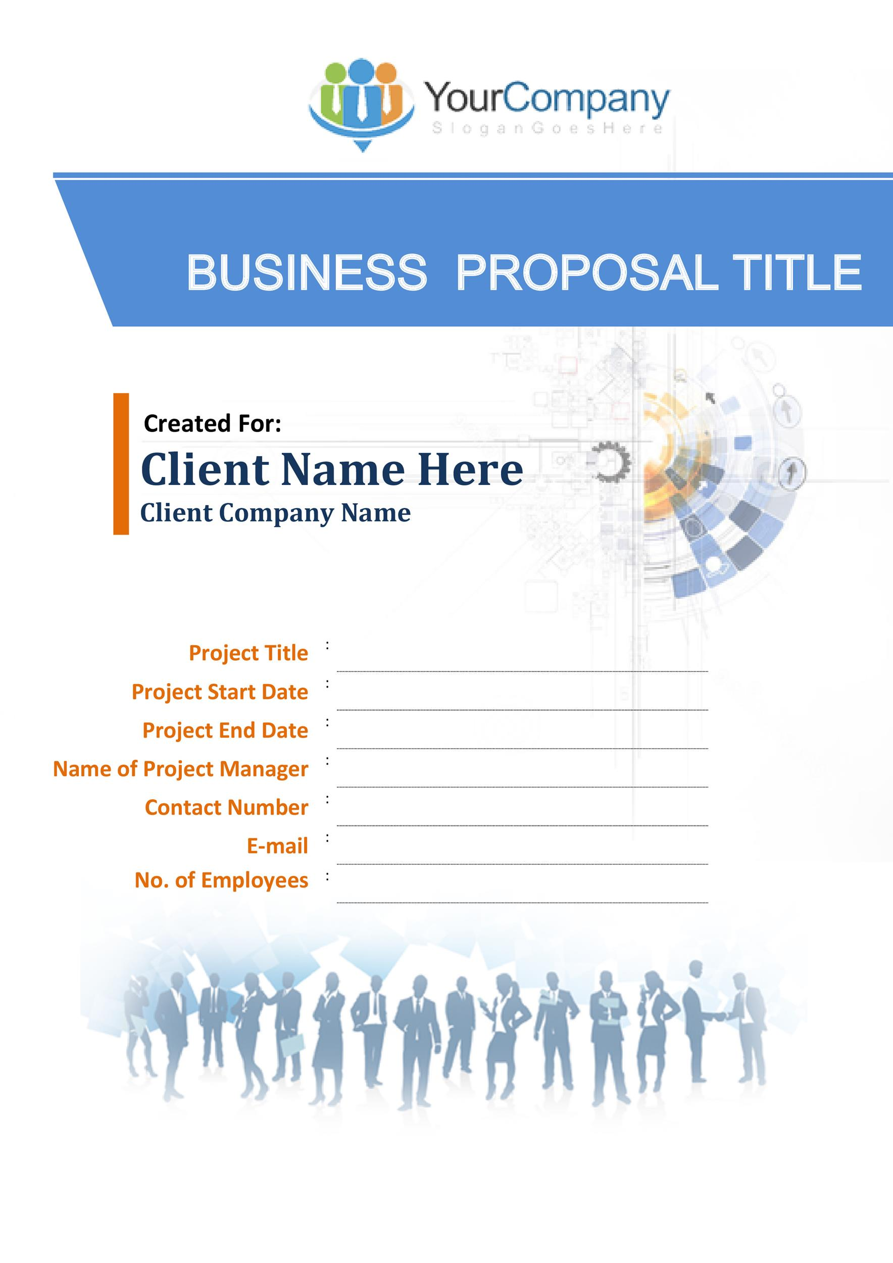 Product Proposal Template Online Technical Writing Proposals