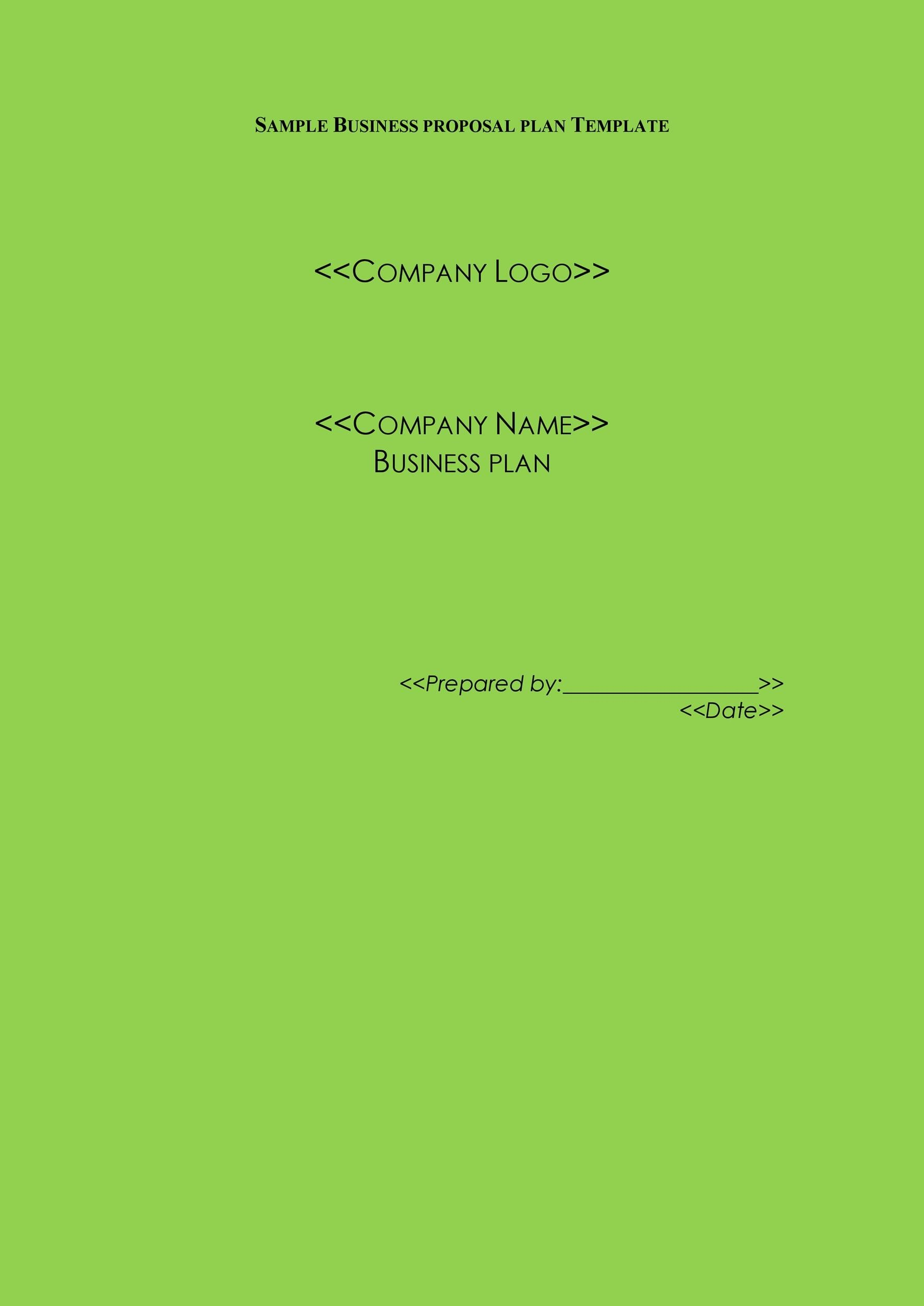 Free Business Proposal Template  25