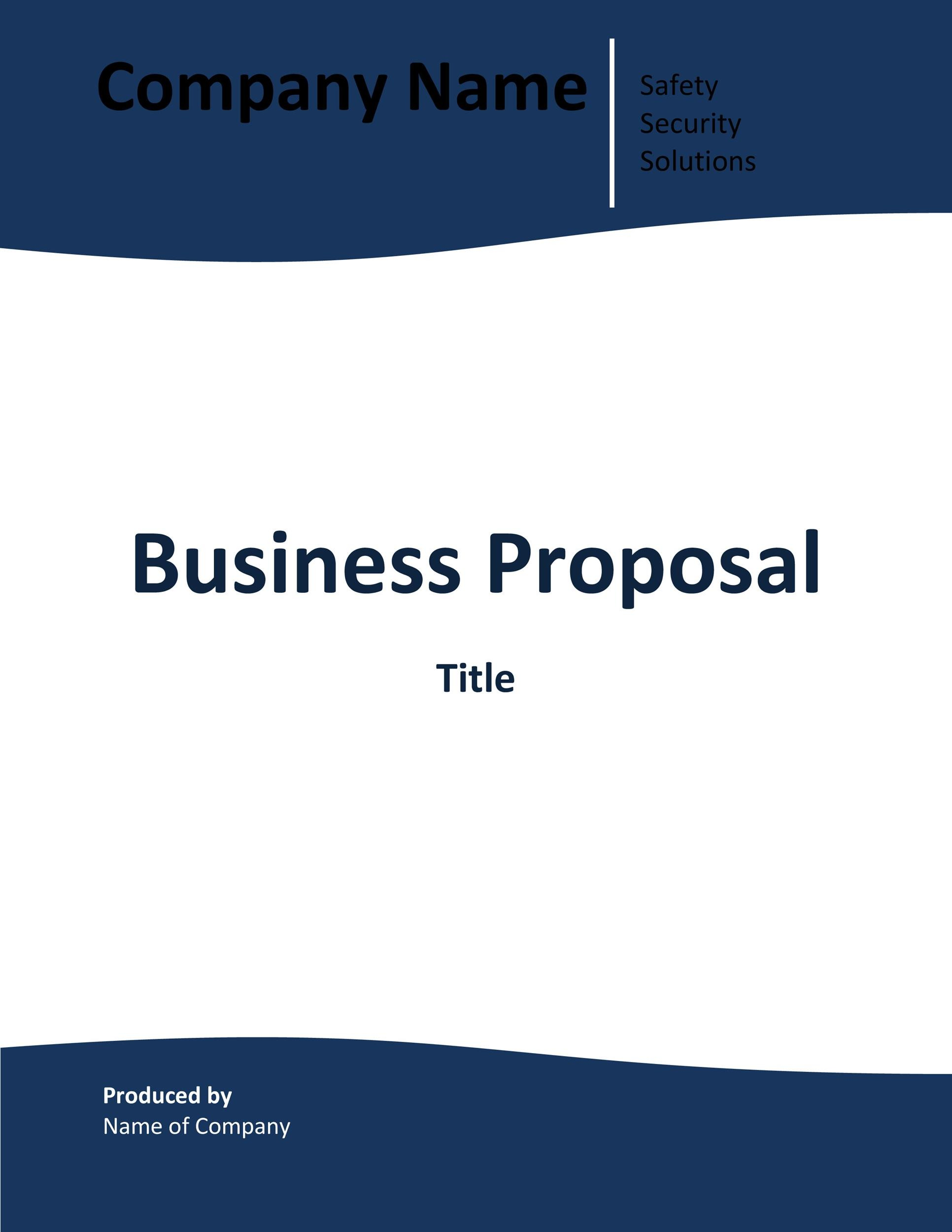 Free Business Proposal Template  26