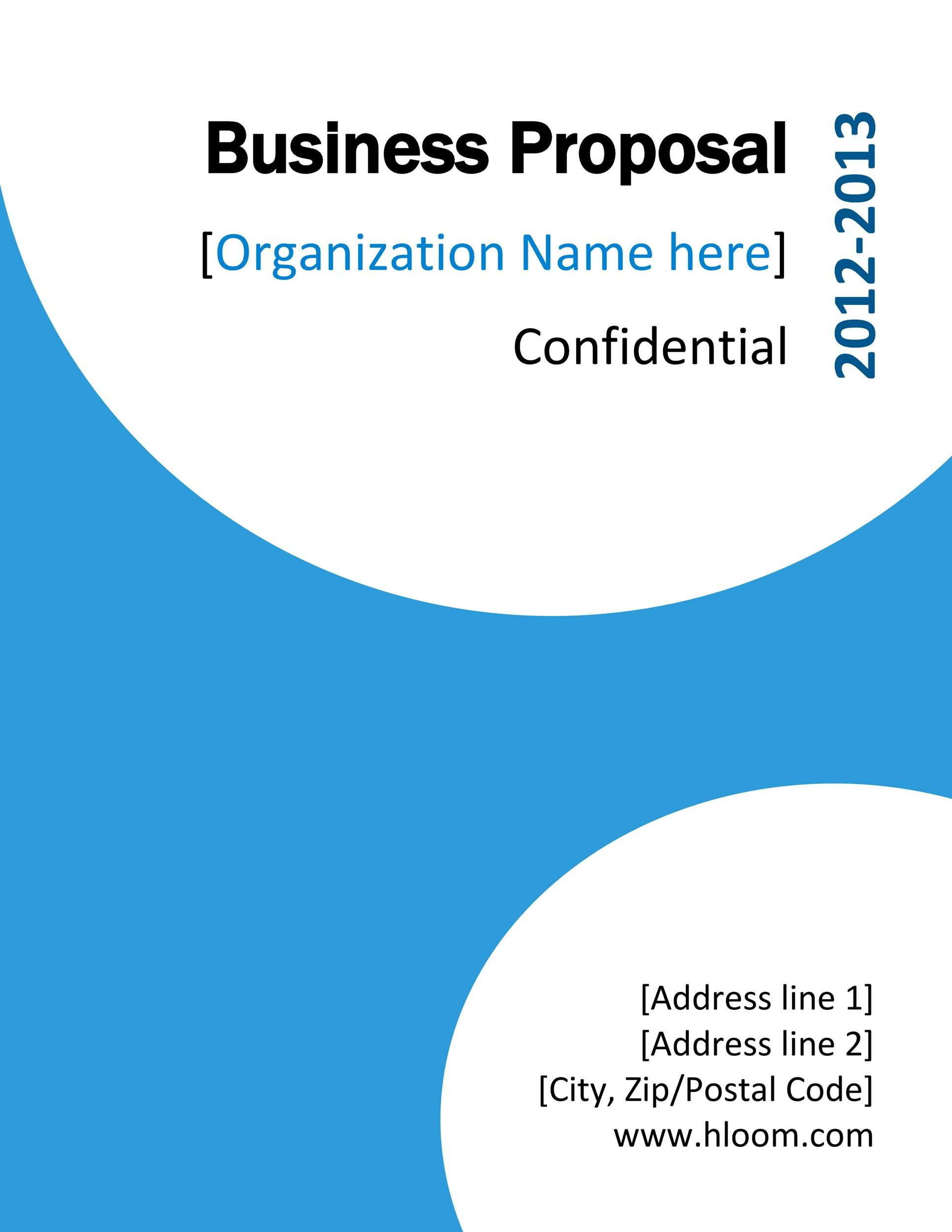 Business Proposal Sample Business Proposal Template Free – Free Business Proposal Templates