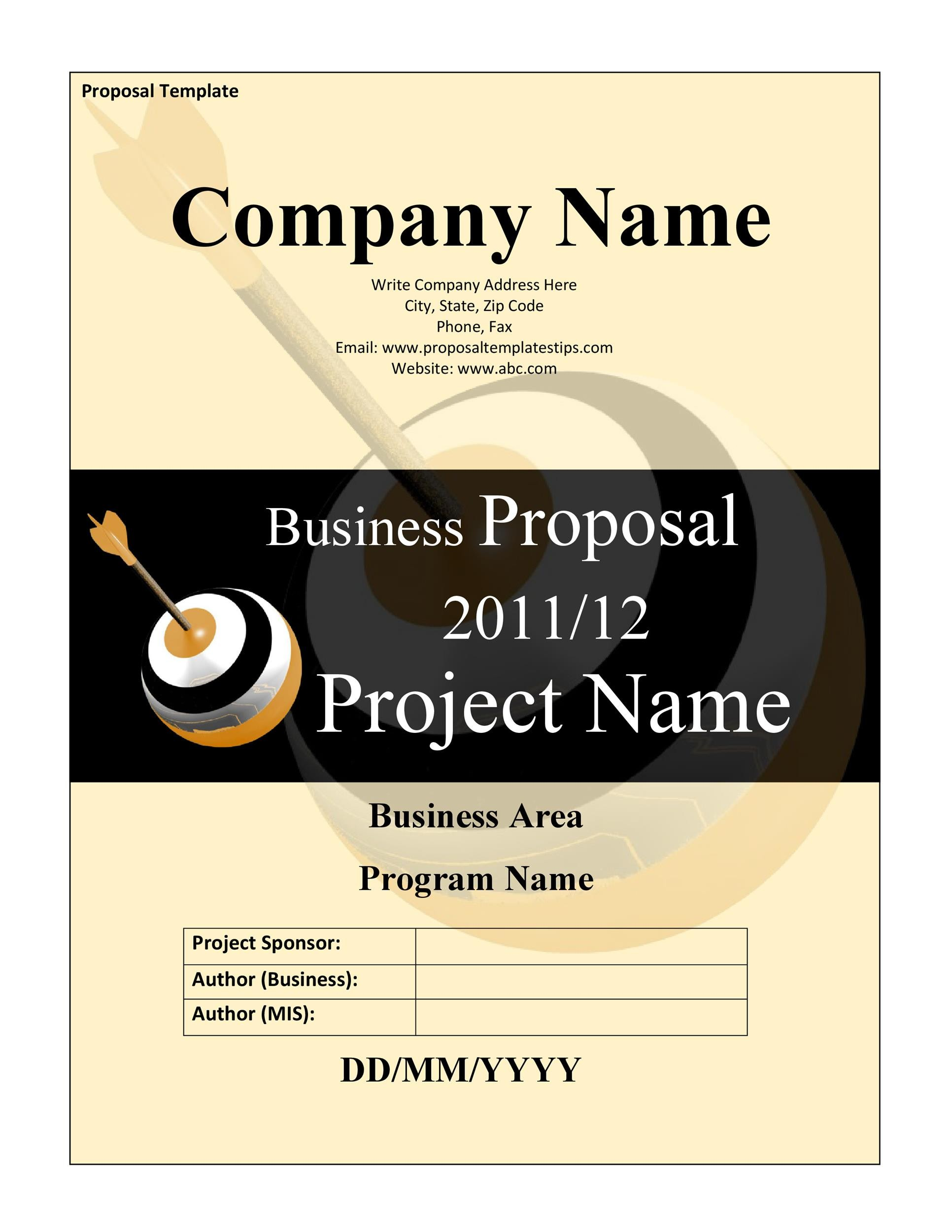 Free Business Proposal Template  29