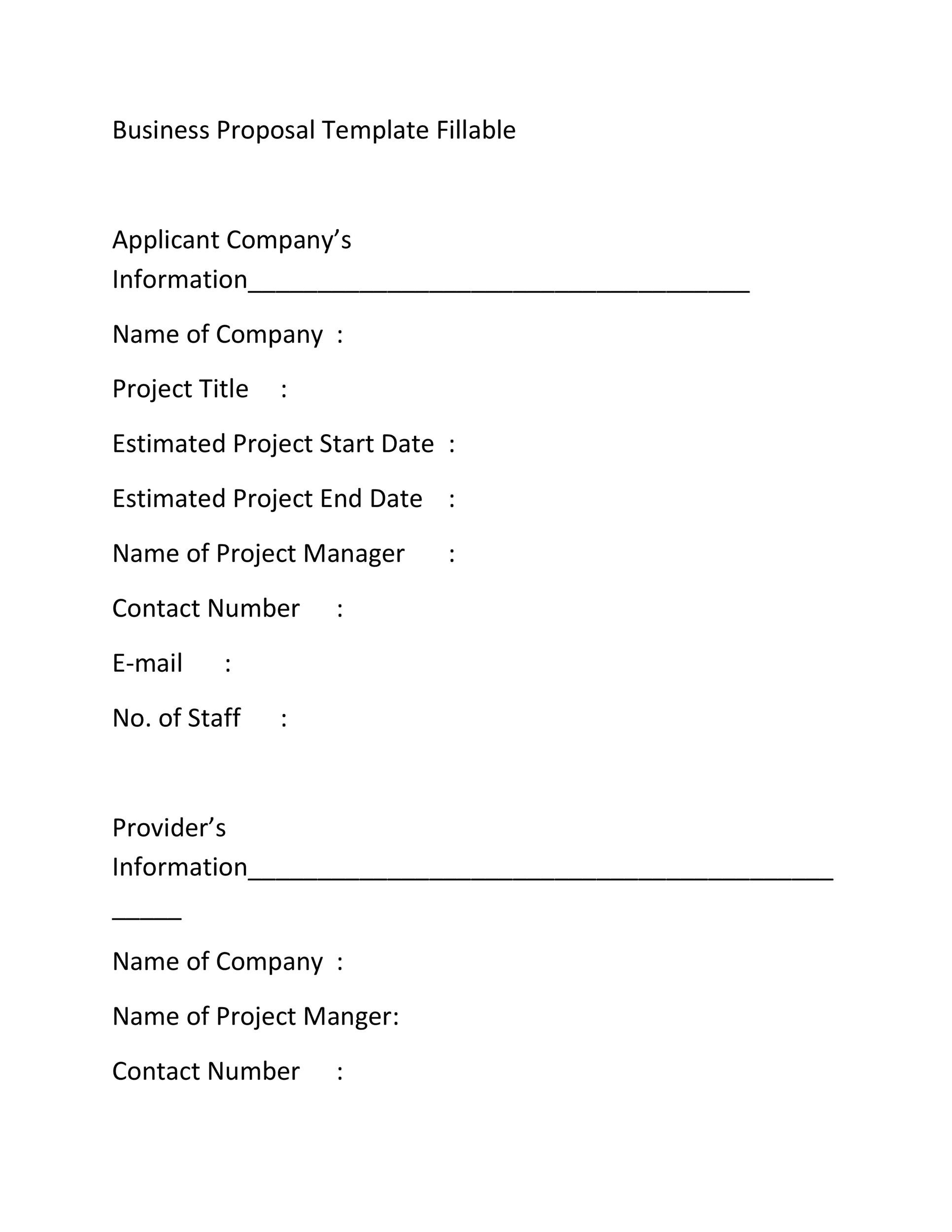 30 Business Proposal Templates Proposal Letter Samples – Company Proposal Template
