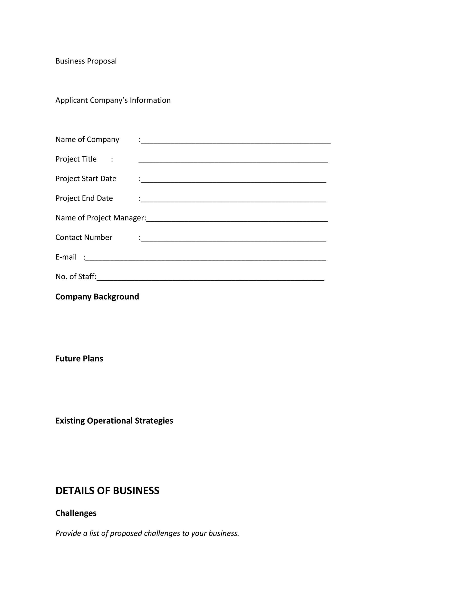 Free Business Proposal Template  33