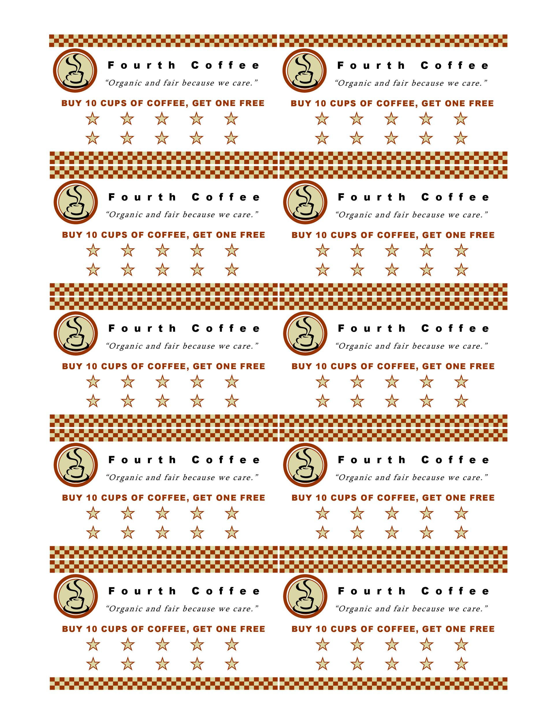 Free Coupon Templates Template Lab - Free editable punch card template