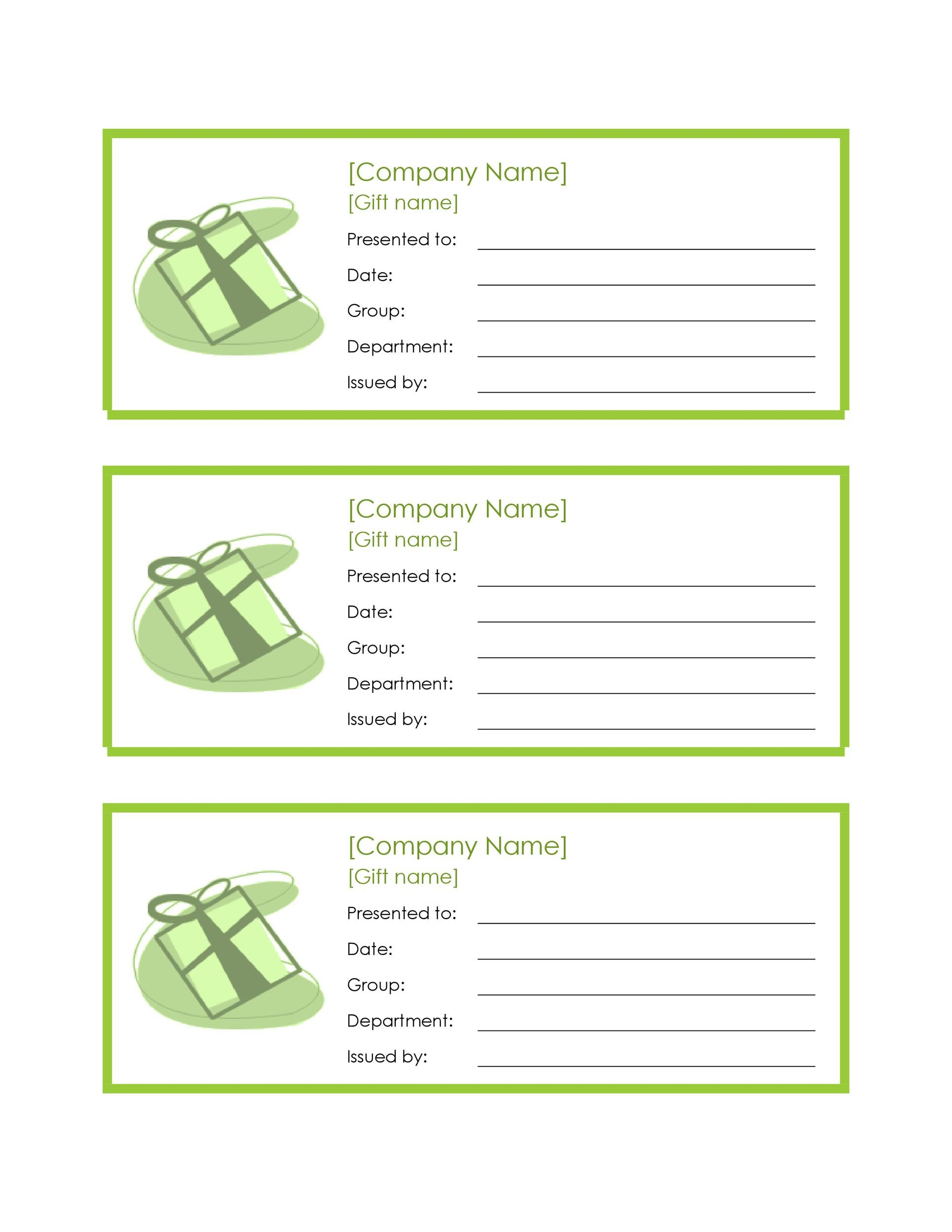 Printable Coupon 19  Lunch Voucher Template