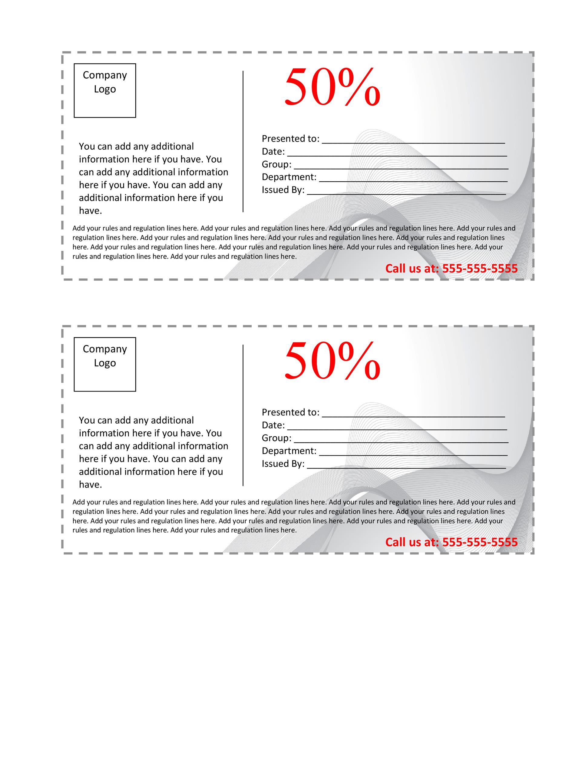 Printable Coupon 23 Intended Business Coupon Template