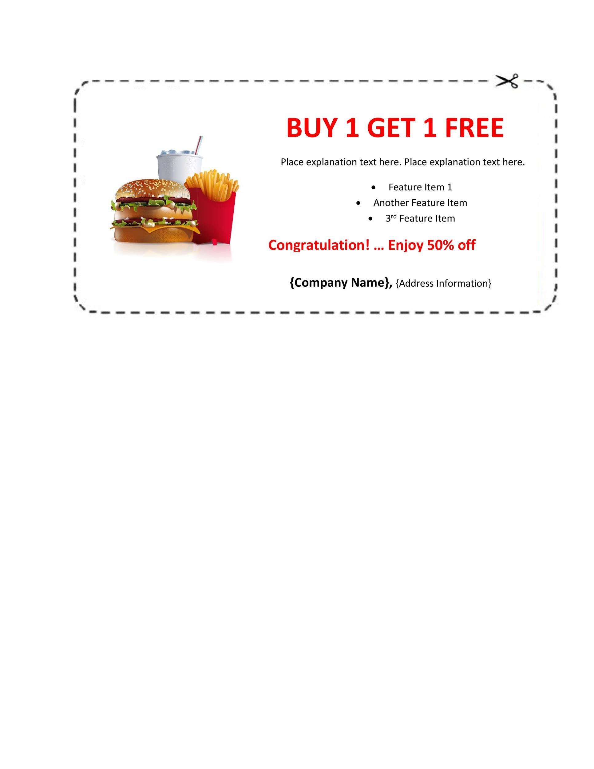 50 free coupon templates template lab for Free meal coupon template