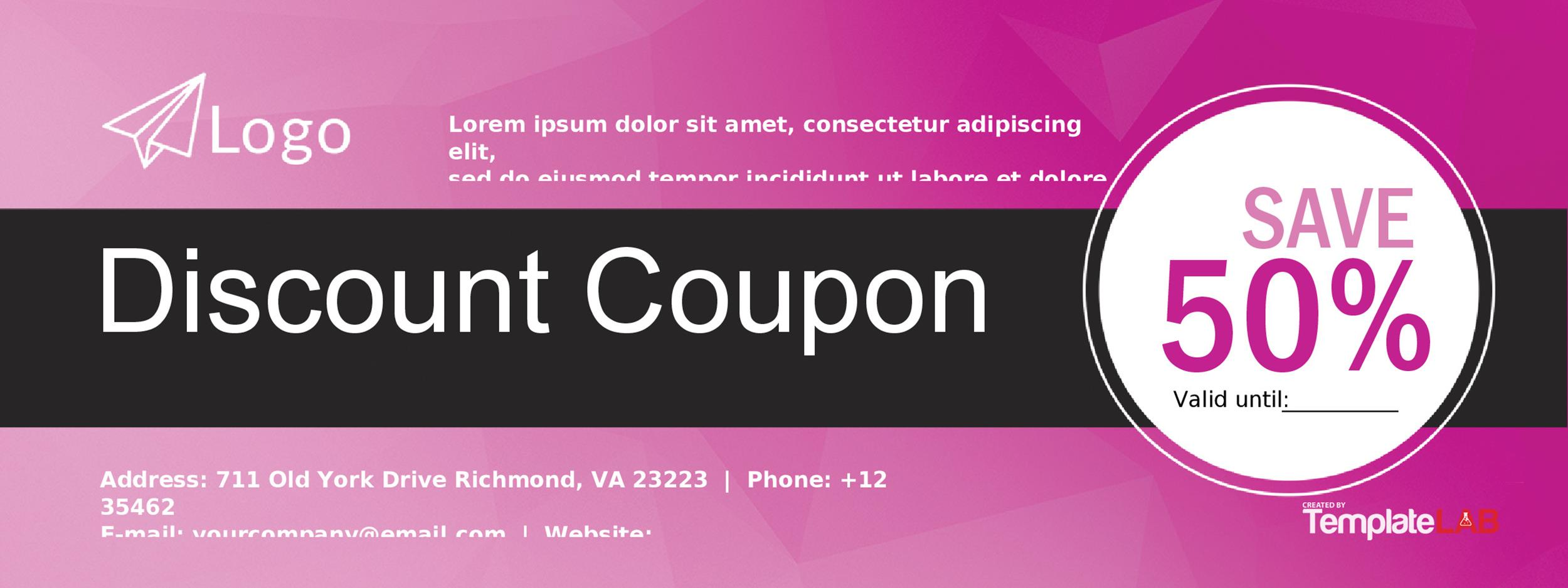 Free Coupon Template 5 – TemplateLab
