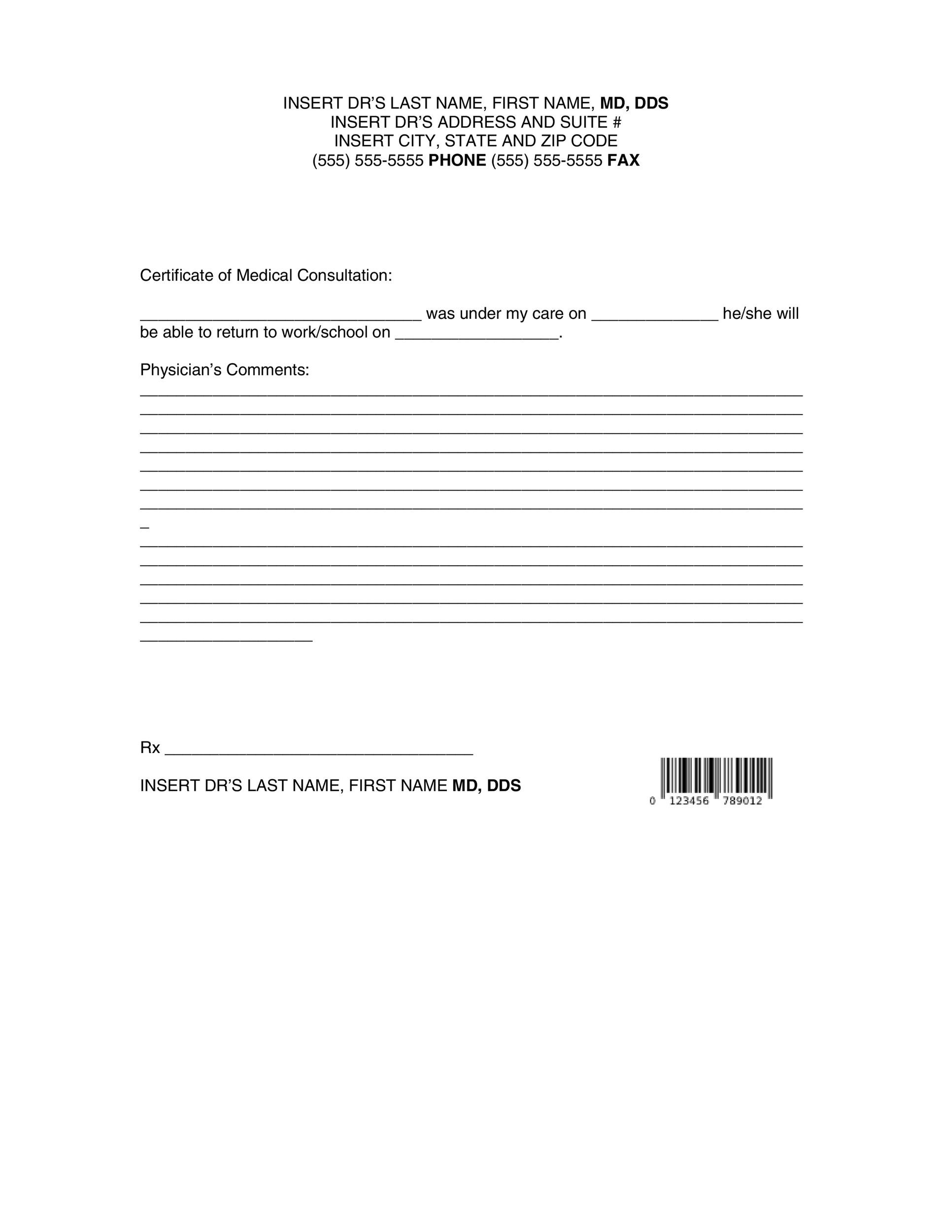 25 Free Doctor Note Excuse Templates Template Lab