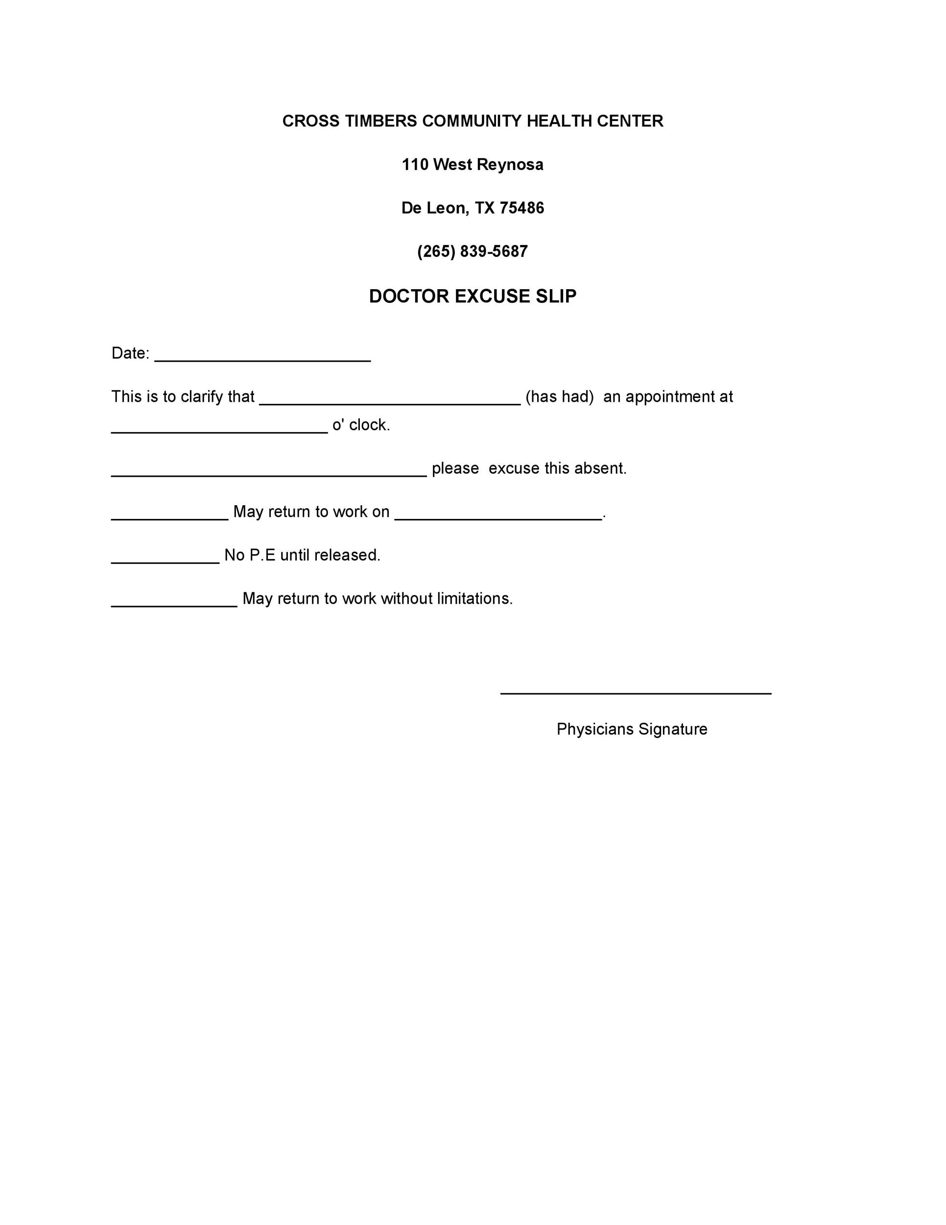 25  free doctor note    excuse templates  u1405 template lab