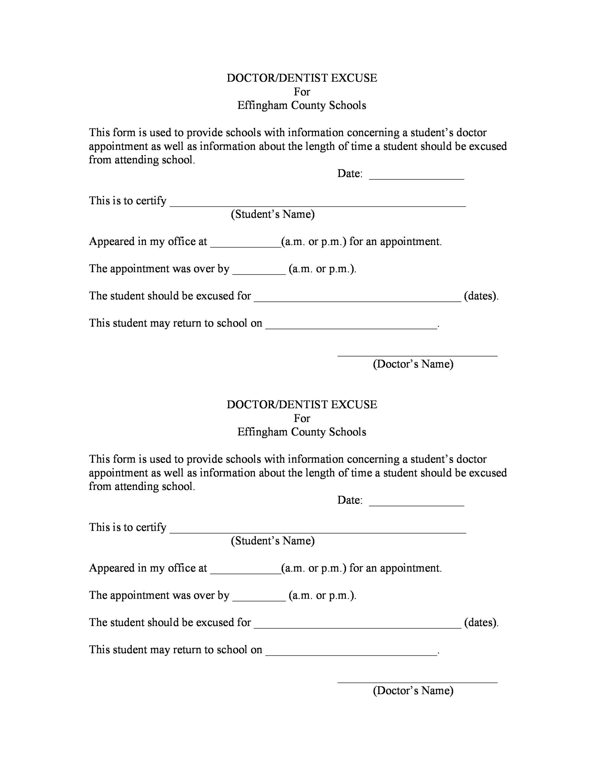 Free Doctor Note Template For Work from templatelab.com