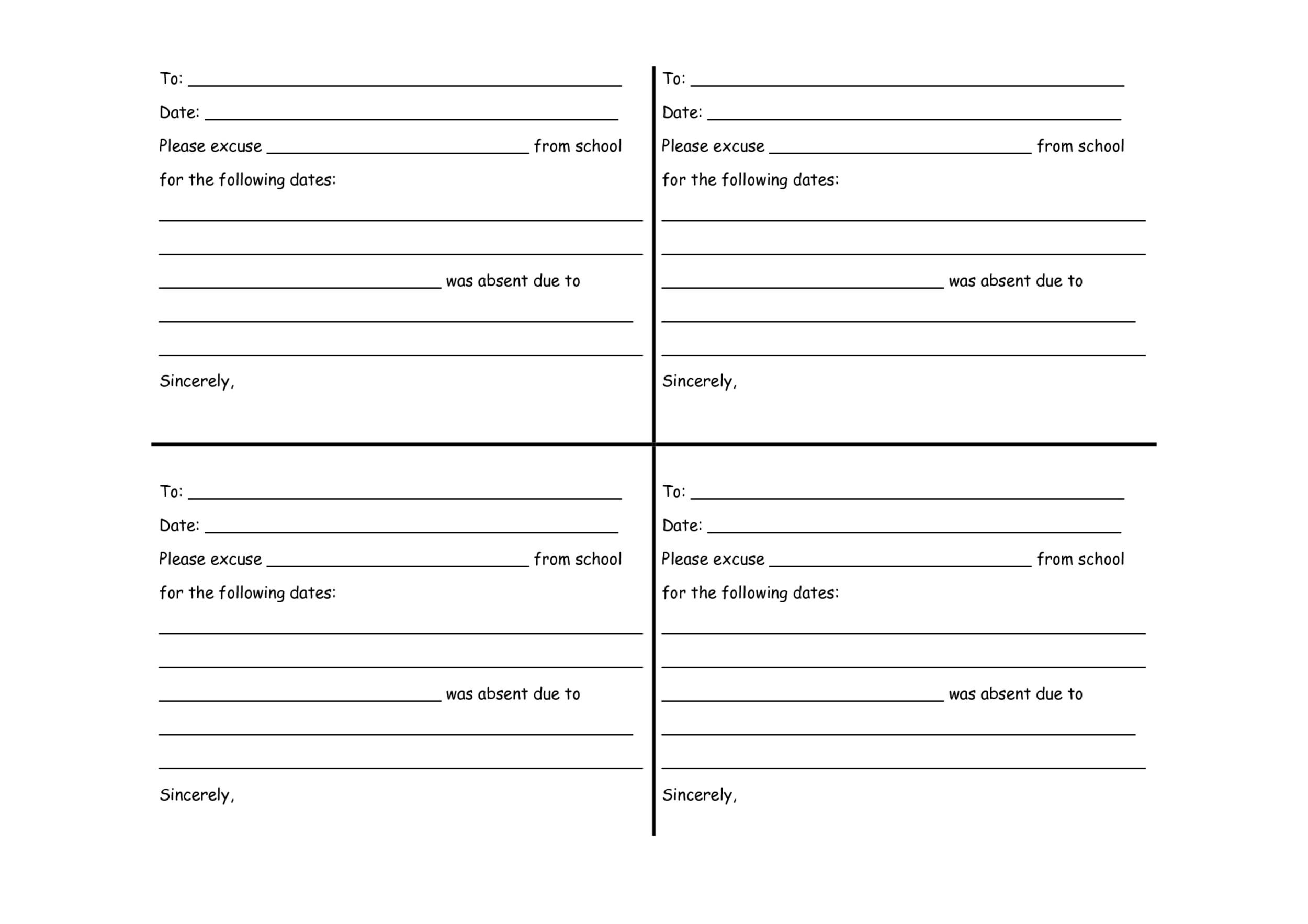 Printable Doctor Notes 14  Free Printable Doctor Forms