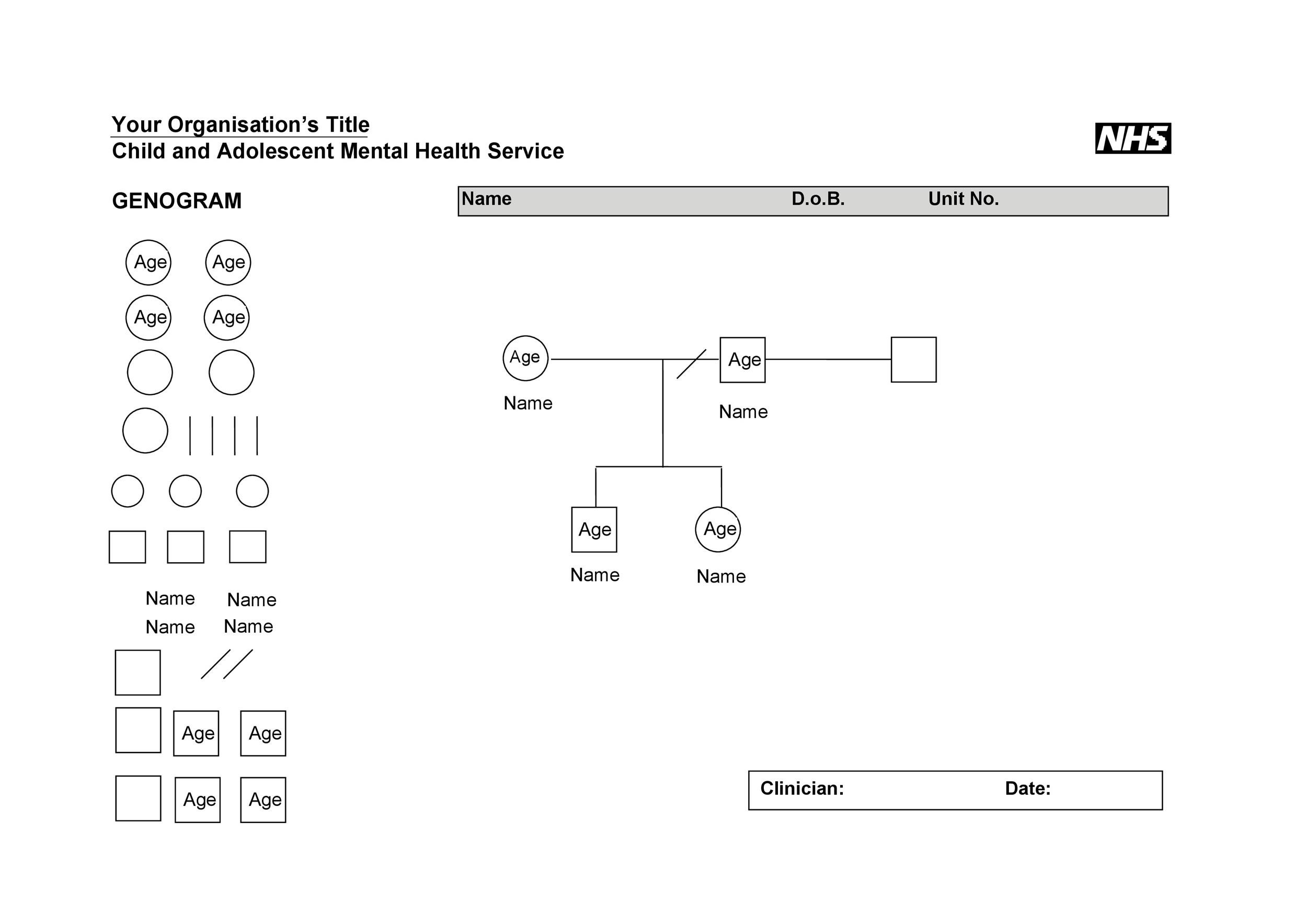 Free Genogram Templates  Symbols  Template Lab