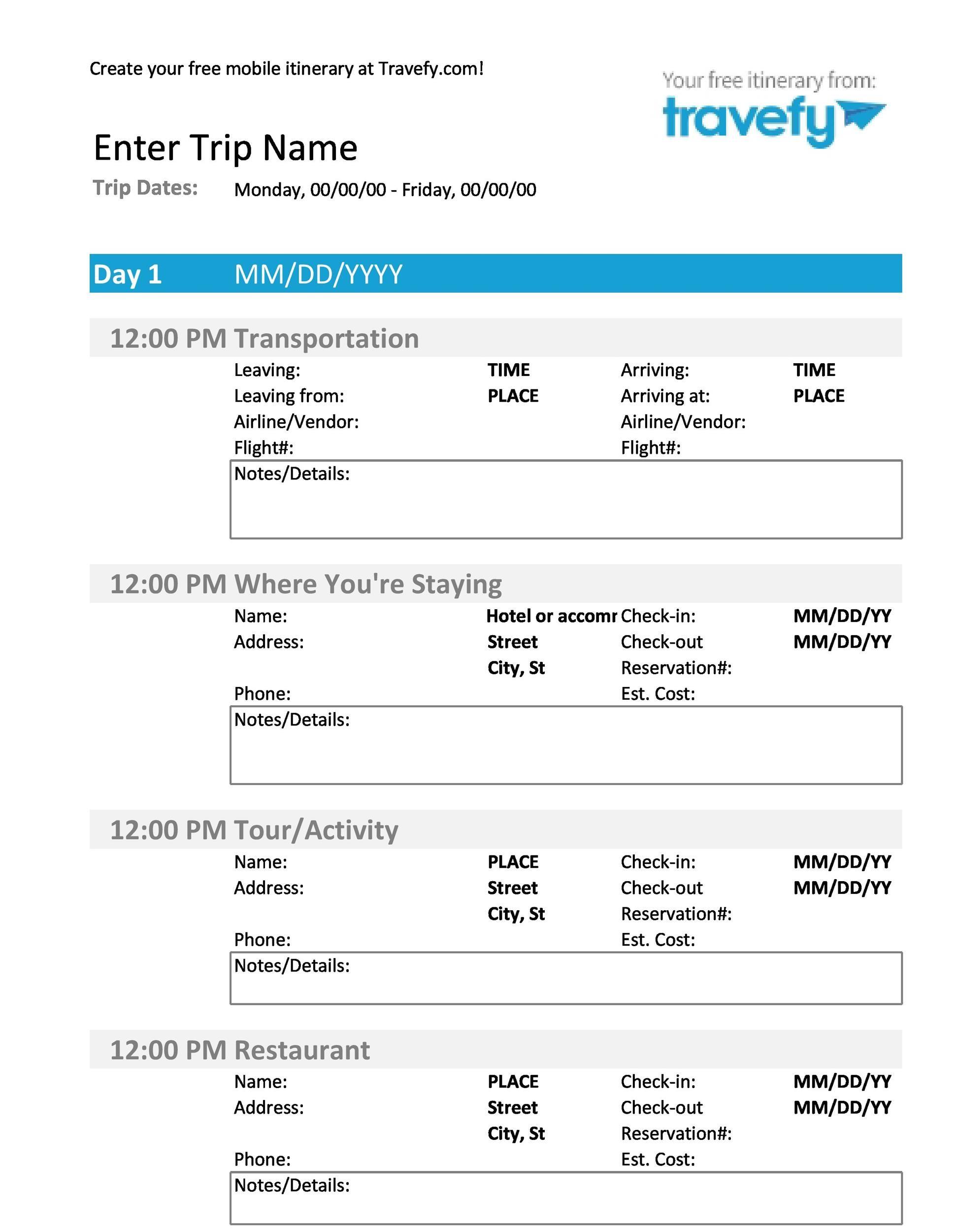 Free Itinerary 02