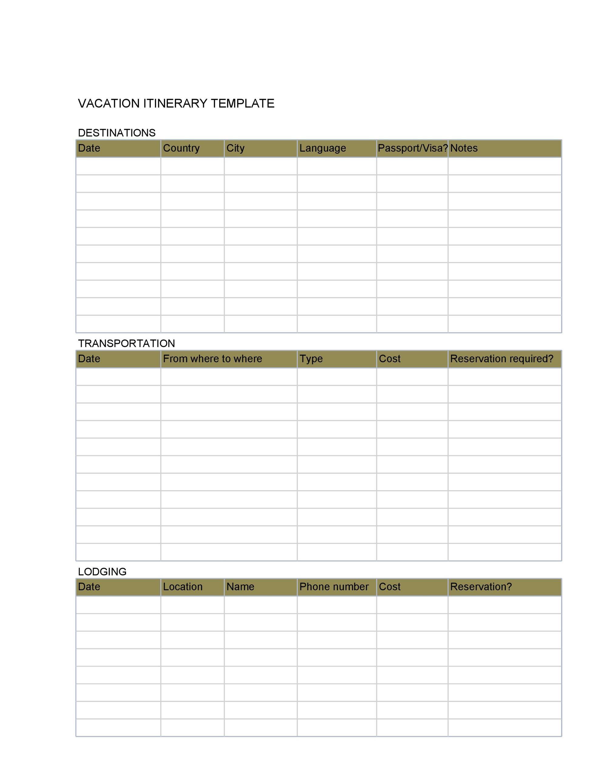 Free Itinerary 06