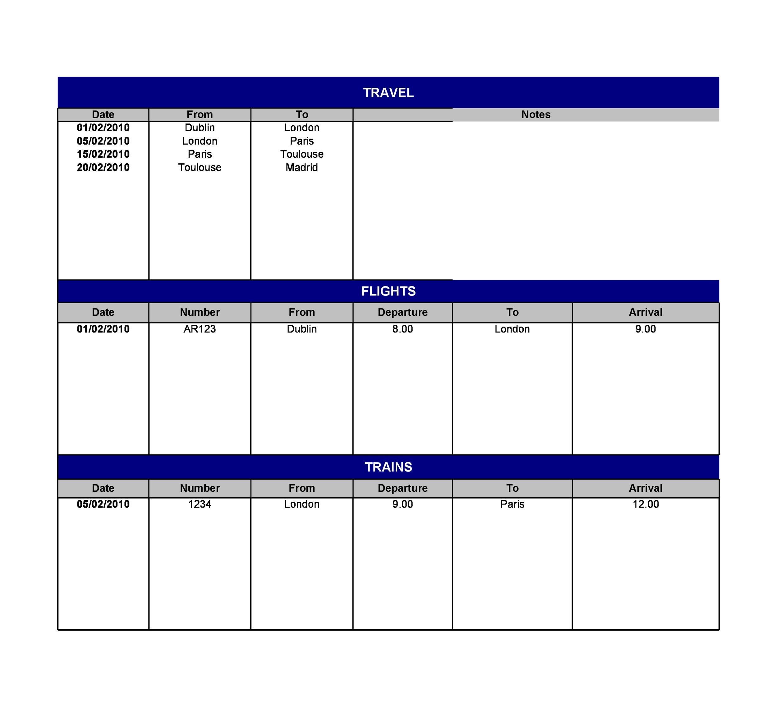 Free Itinerary 08