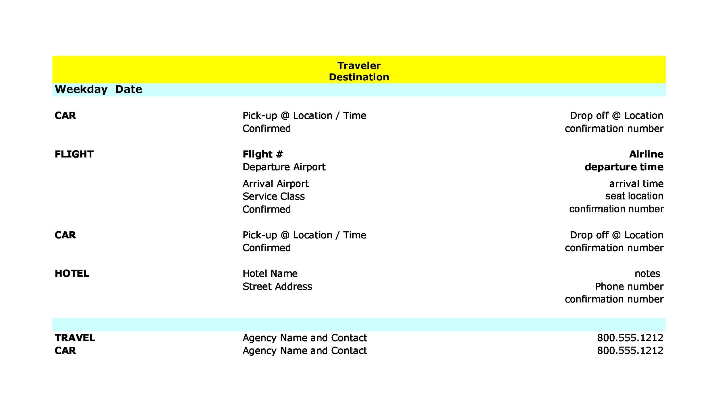 Free Itinerary 11