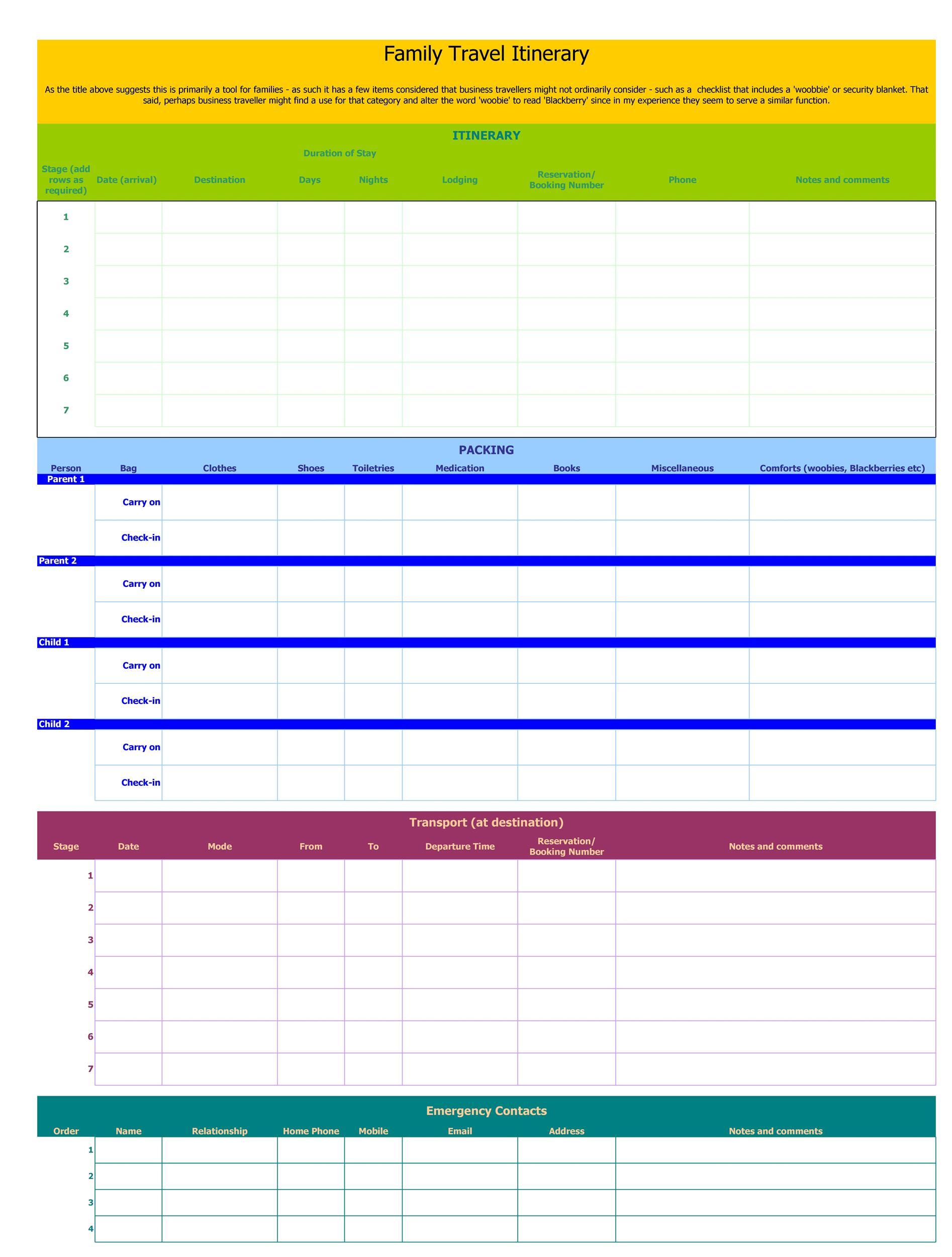 Free Itinerary 12