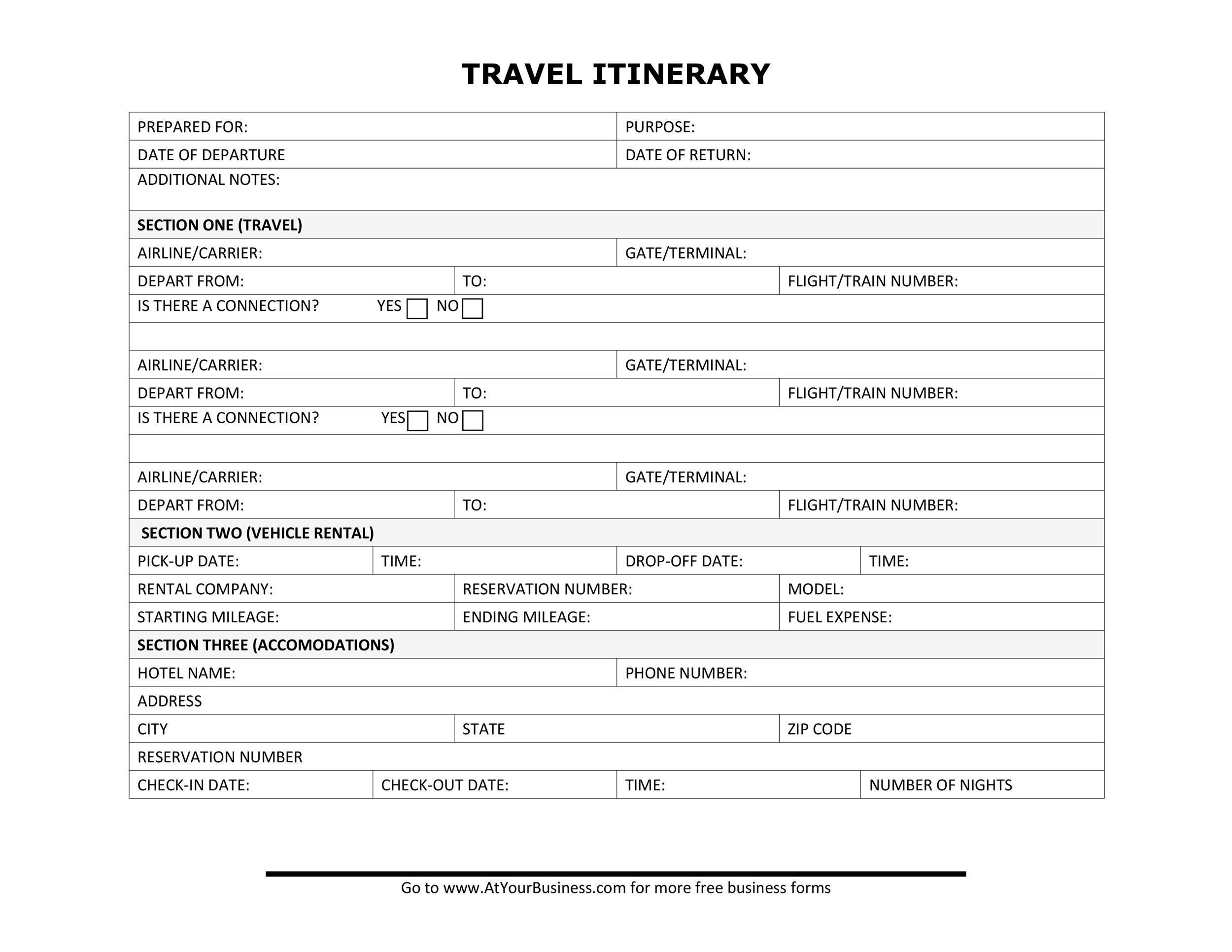Free Itinerary 26