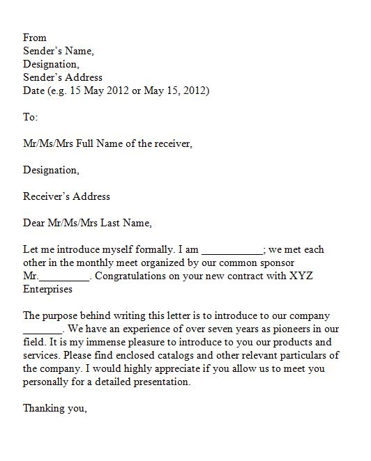 Sample business introduction letter to prospective clients timiz sample business introduction letter to prospective clients spiritdancerdesigns Gallery