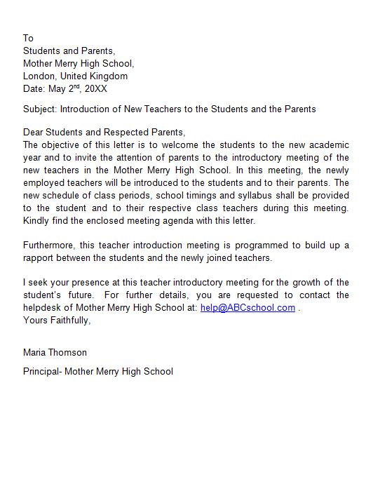 Free Letter of Introduction Template 07