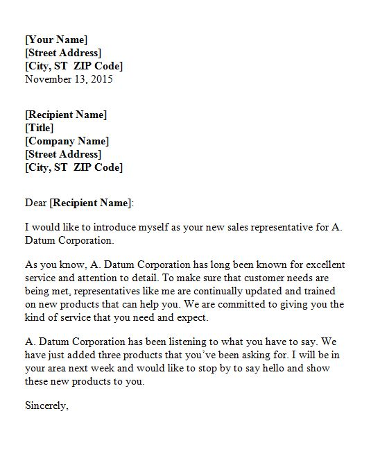 Free Letter of Introduction Template 13
