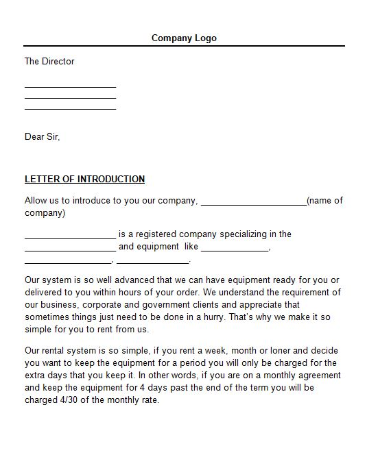 Writing introduction letters business – Business Introduction Letters
