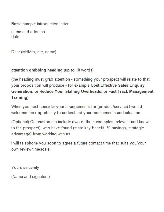 Free Letter of Introduction Template 17