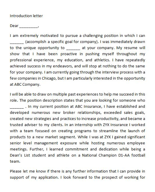 Free Letter of Introduction Template 22