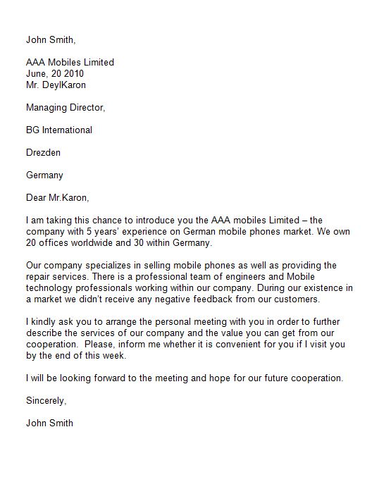 Free Introduction Letter Template 34